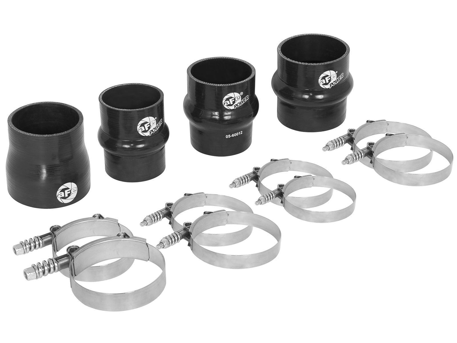 aFe POWER 46-20080AA BladeRunner Intercooler Couplings & Clamps Kit; aFe GT Series Intercooler & aFe Tubes