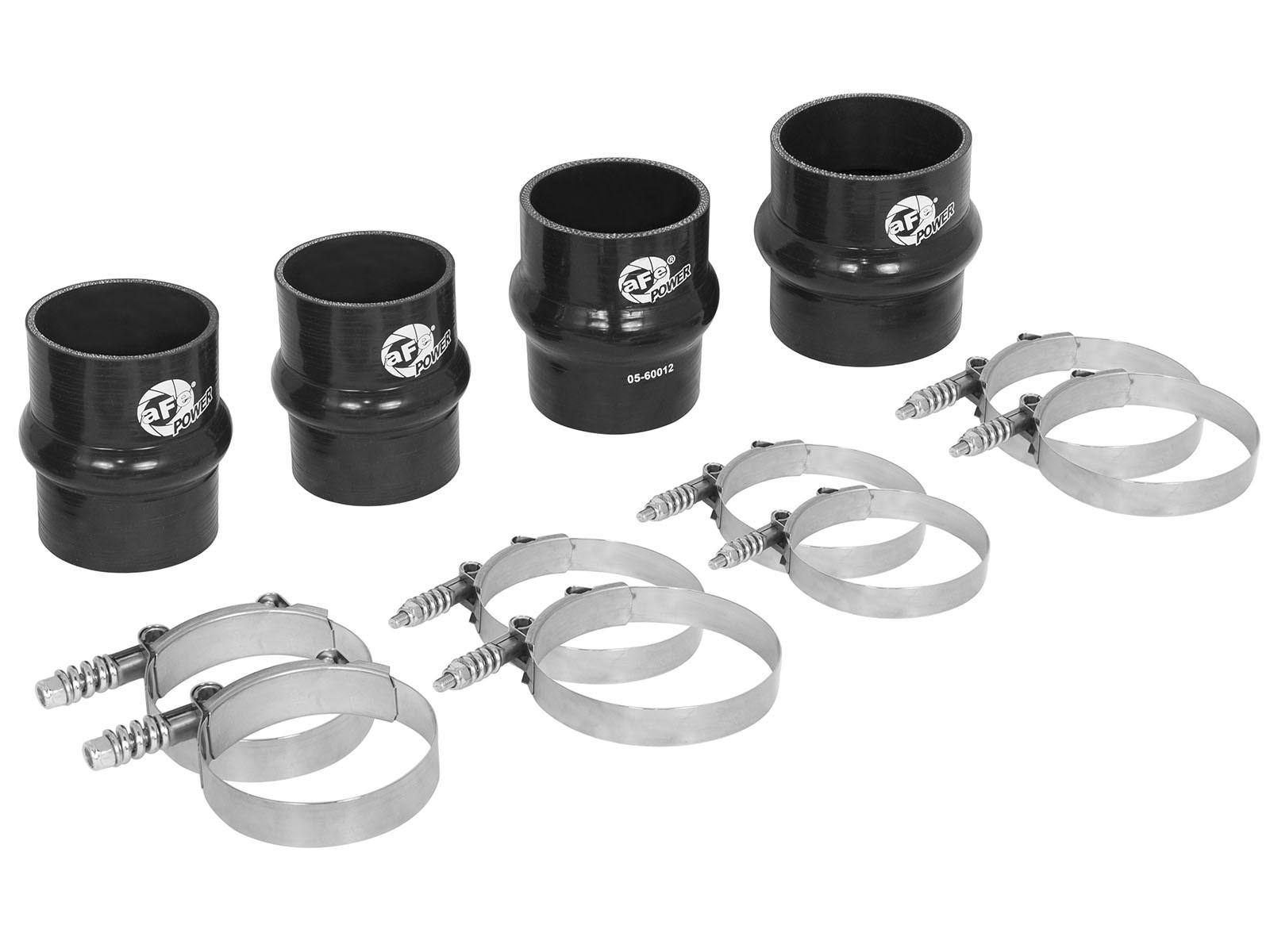 aFe POWER 46-20080AS BladeRunner Intercooler Couplings & Clamps Kit; Factory Intercooler & aFe Tubes
