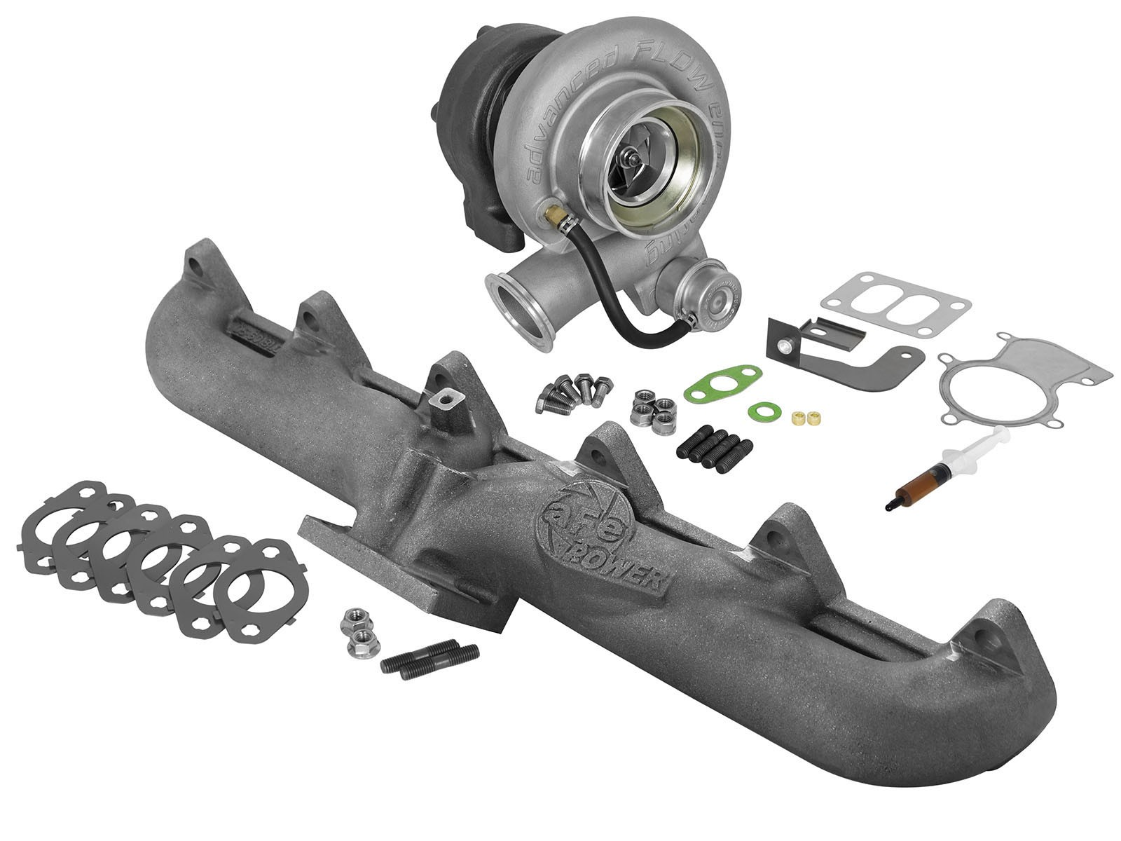 aFe POWER 46-60060-MB BladeRunner Street Series Turbocharger w/ Exhaust Manifold