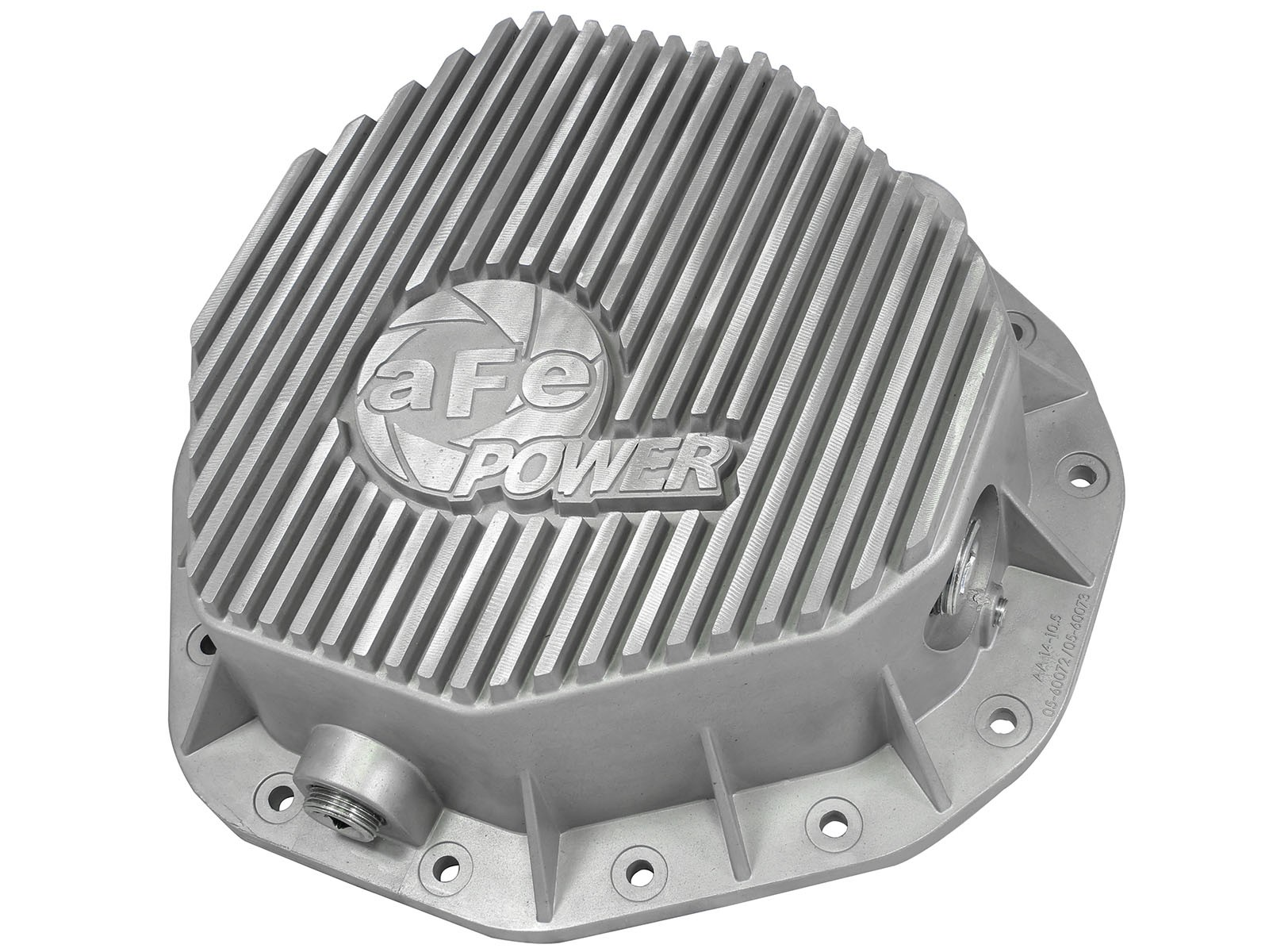 aFe POWER 46-70090 Rear Differential Cover, Raw Finish; Street Series