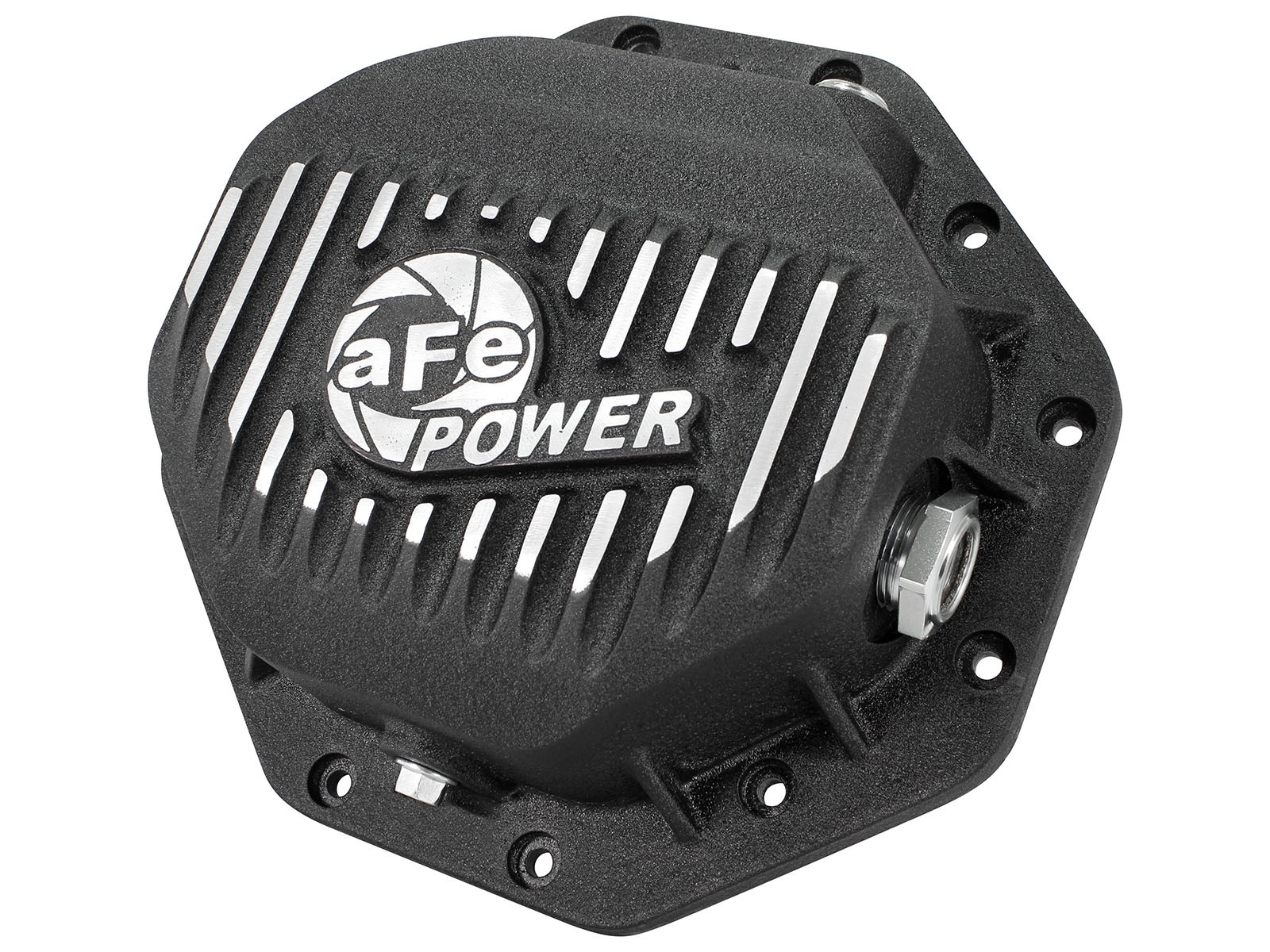 aFe POWER 46-70272 Rear Differential Cover, Machined Fins; Pro Series