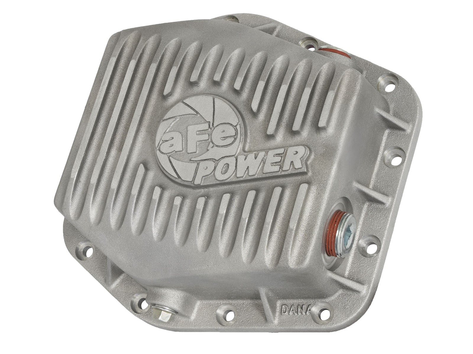 aFe POWER 46-70300 Rear Differential Cover, Raw Finish; Street Series