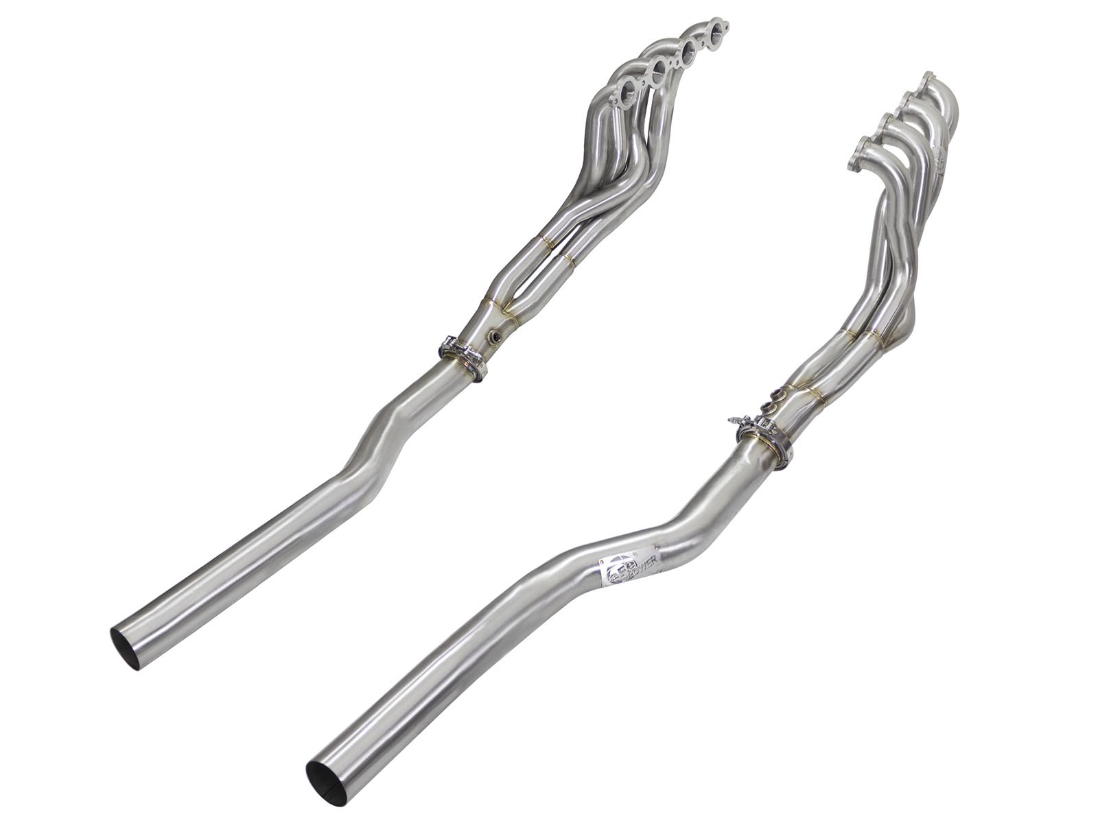 aFe POWER 48-34125-YN Twisted Steel Tri-Y Long Tube Header & Connection Pipes; Race Series