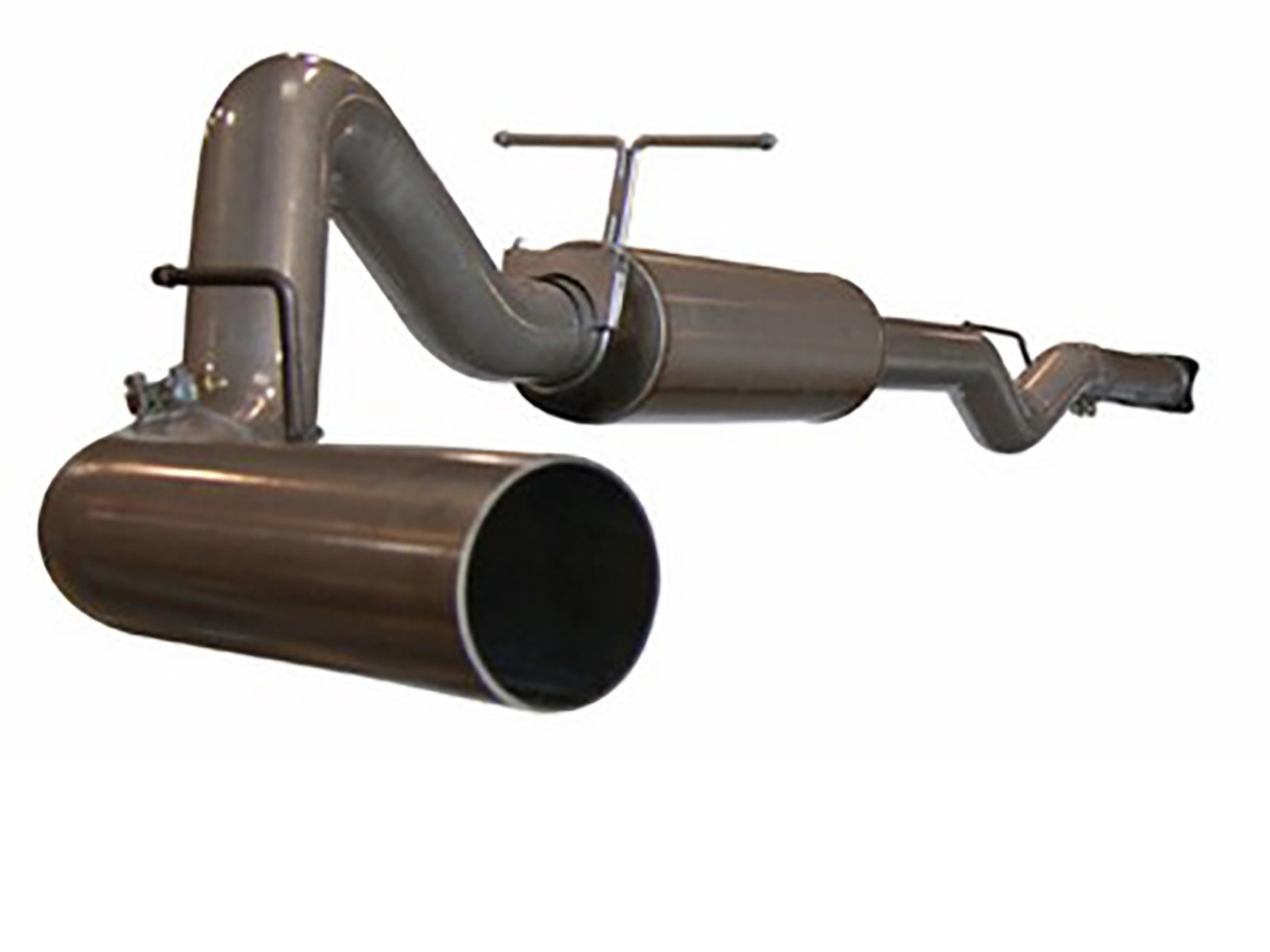 """aFe POWER 49-14002 Large Bore-HD 4"""" 409 Stainless Steel Cat-Back Exhaust System"""