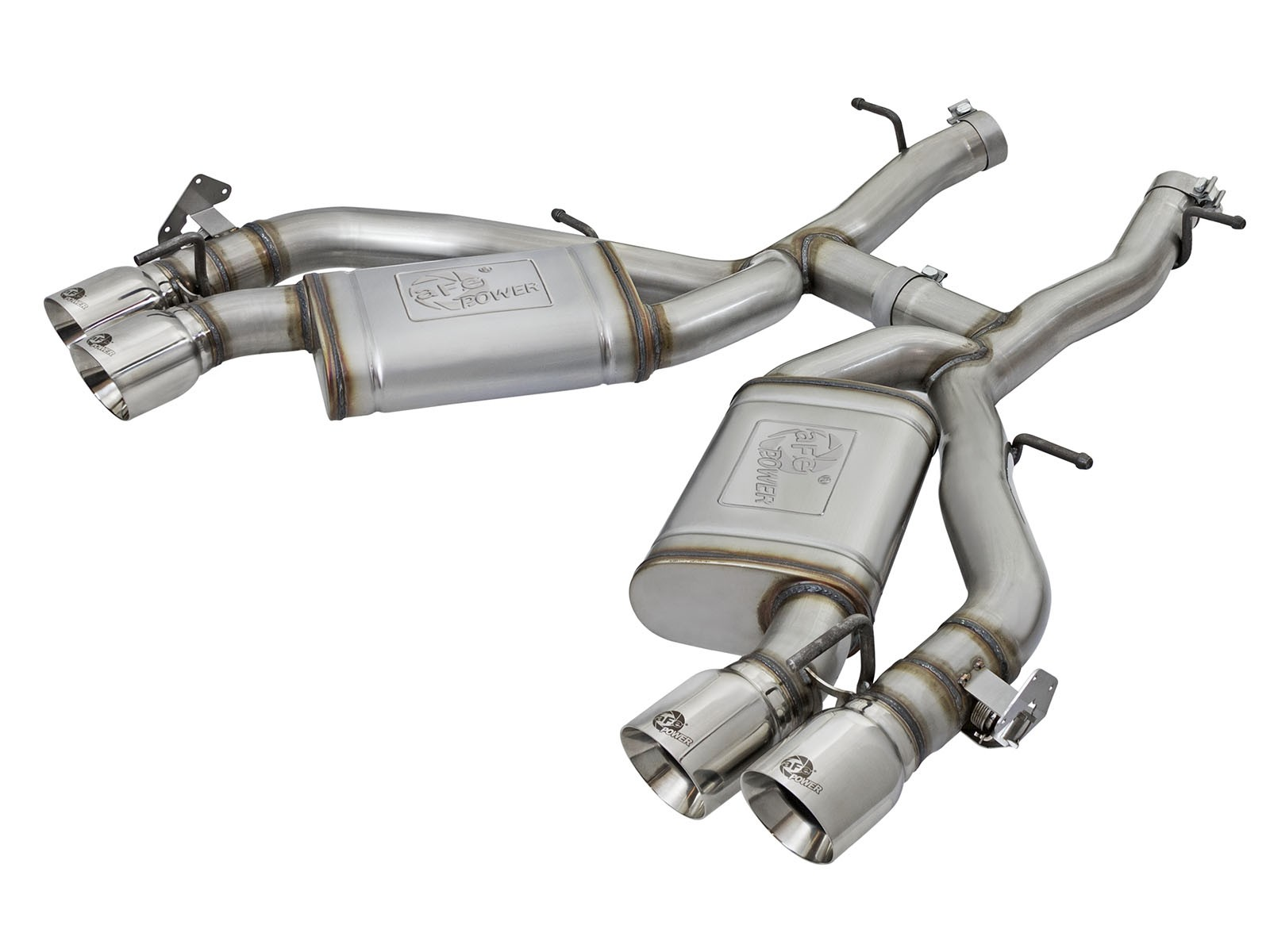 "aFe POWER 49-34068-P MACH Force-Xp 3"" 304 Stainless Steel Axle-Back Exhaust System"