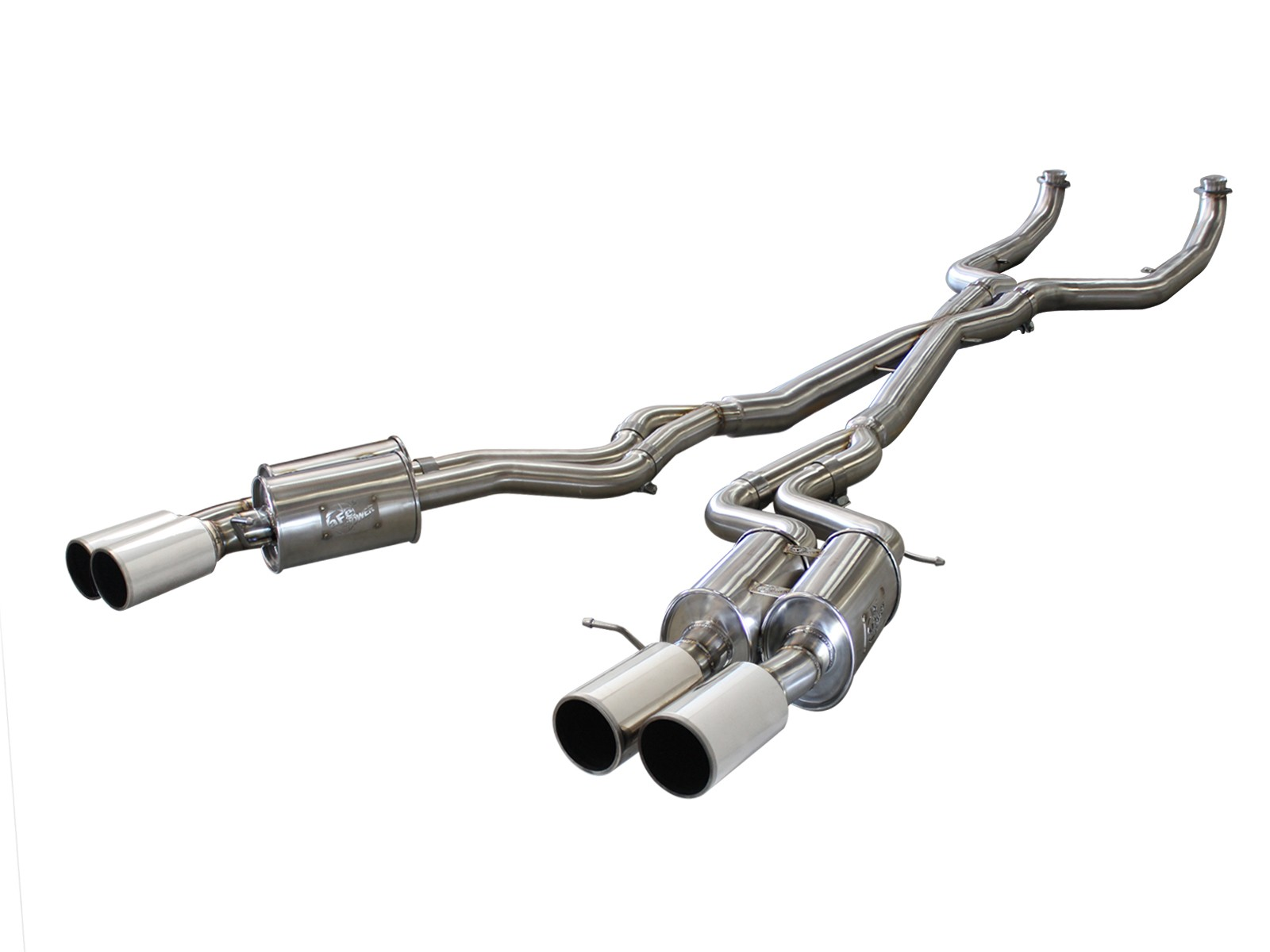 "aFe POWER 49-36317-P MACH Force-Xp 3"" 304 Stainless Steel Cat-Back Exhaust System"