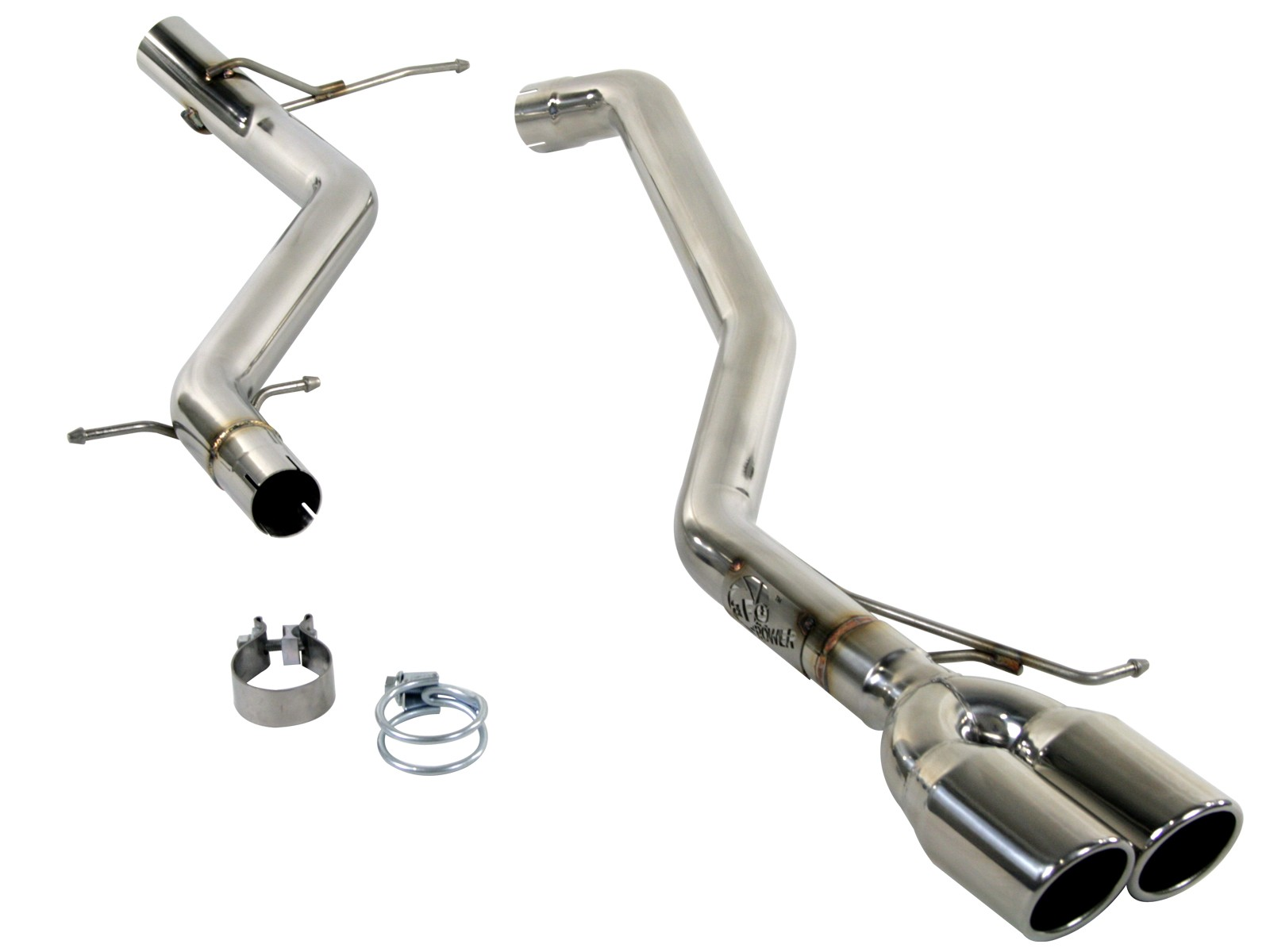 """aFe POWER 49-36401 MACH Force-Xp 2-1/2"""" 304 Stainless Steel Cat-Back Exhaust System"""