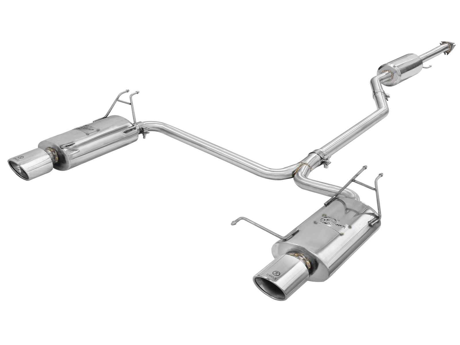"""aFe POWER 49-36612 Takeda 2-1/4"""" to 2"""" 304 Stainless Steel Cat-Back Exhaust System"""