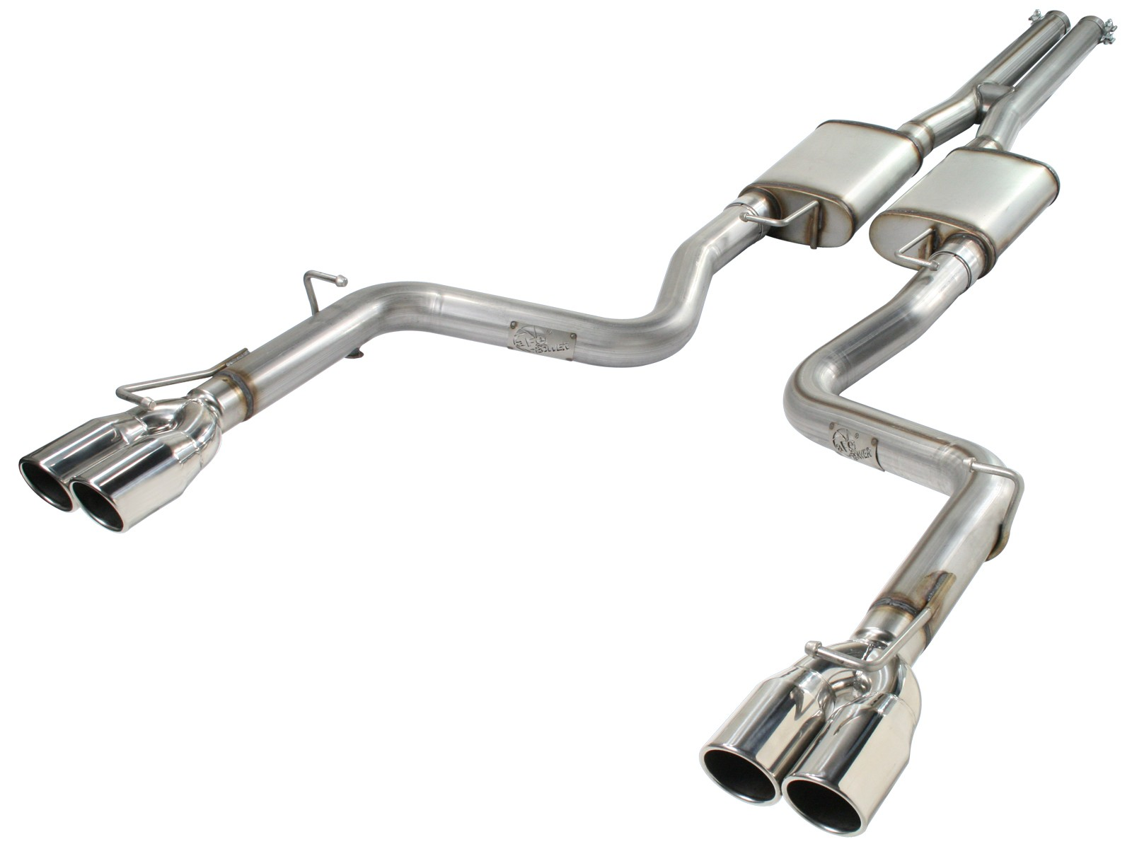 """aFe POWER 49-42017 MACH Force-Xp 3"""" 409 Stainless Steel Cat-Back Exhaust System"""