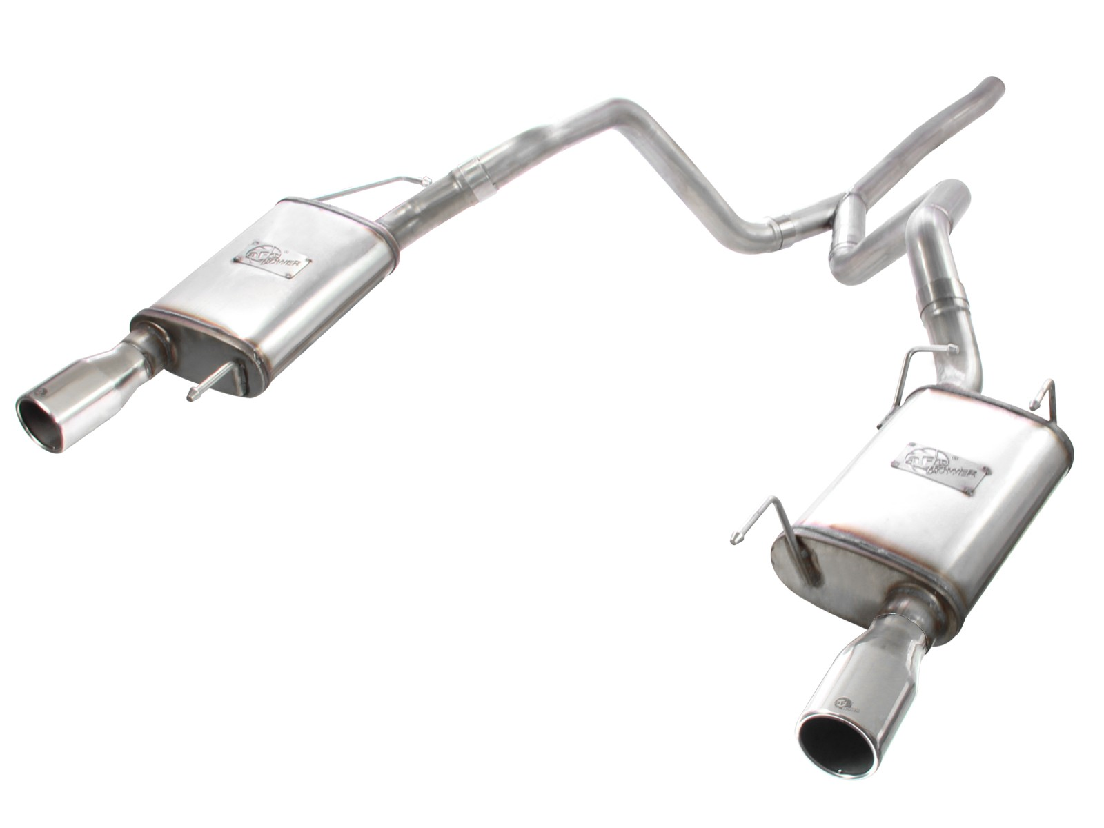 """aFe POWER 49-43047 MACH Force-Xp 2-1/2"""" 409 Stainless Steel Cat-Back Exhaust System"""
