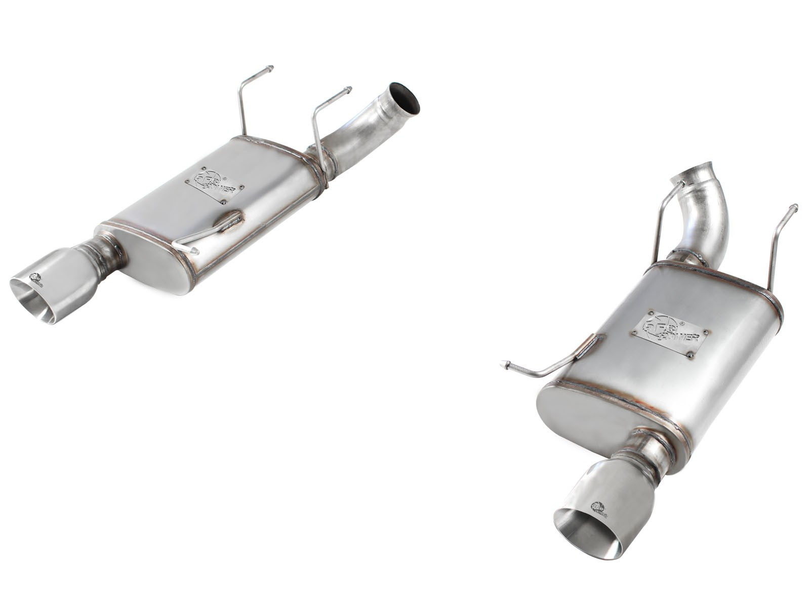 """aFe POWER 49-43052-P MACH Force-Xp 3"""" 409 Stainless Steel Axle-Back Exhaust System"""