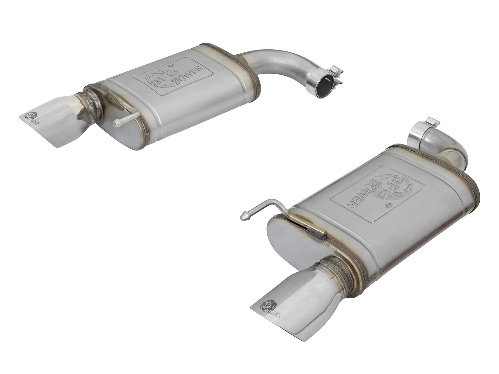 """aFe POWER 49-43085-P MACH Force-Xp 2-1/2"""" 409 Stainless Steel Axle-Back Exhaust System"""