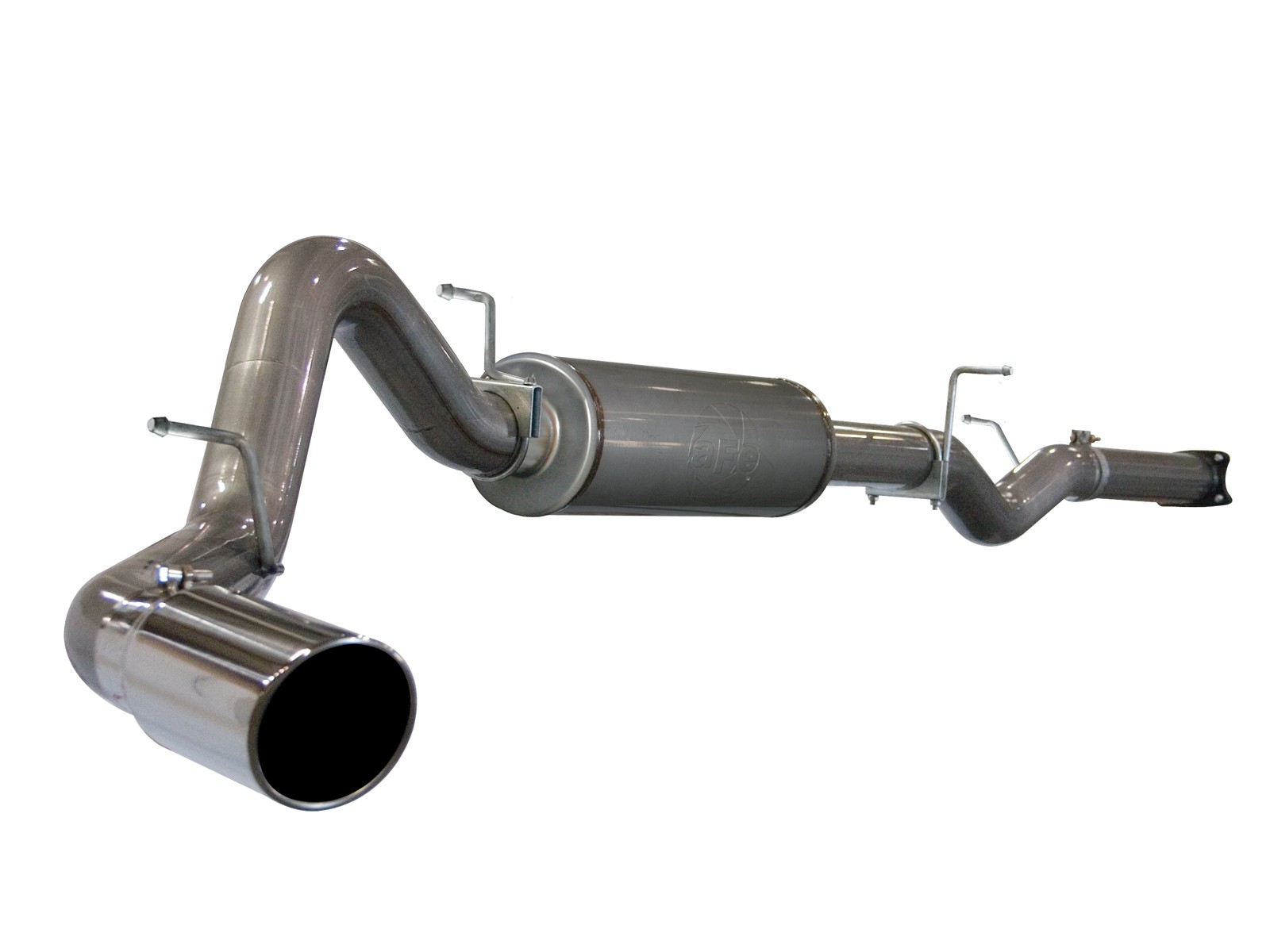 """aFe POWER 49-44001 Large Bore-HD 4"""" 409 Stainless Steel Cat-Back Exhaust System"""