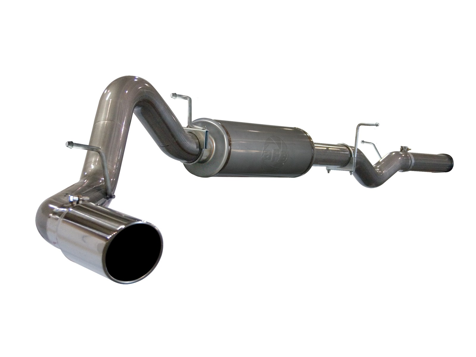 """aFe POWER 49-44002 Large Bore-HD 4"""" 409 Stainless Steel Cat-Back Exhaust System"""