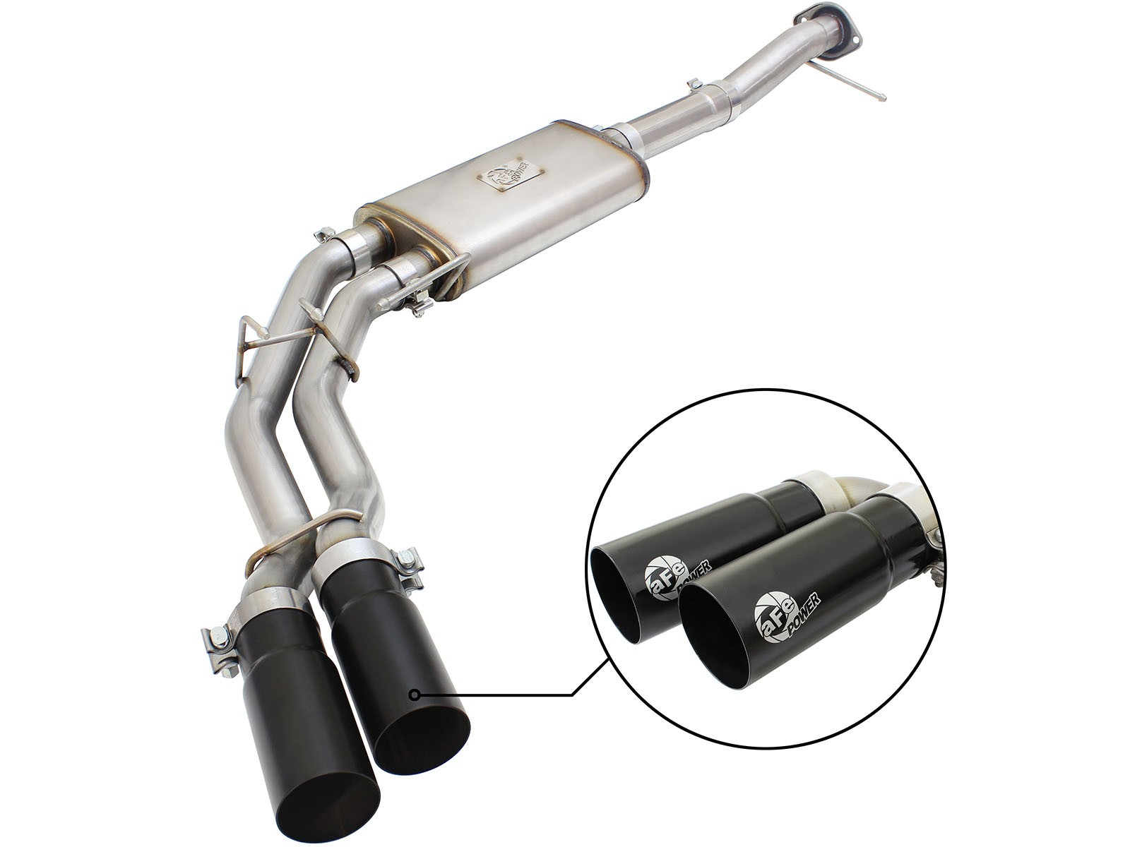 "aFe POWER 49-43080-B Rebel Series 3"" to 2-1/2"" 409 Stainless Steel Cat-Back Exhaust System"