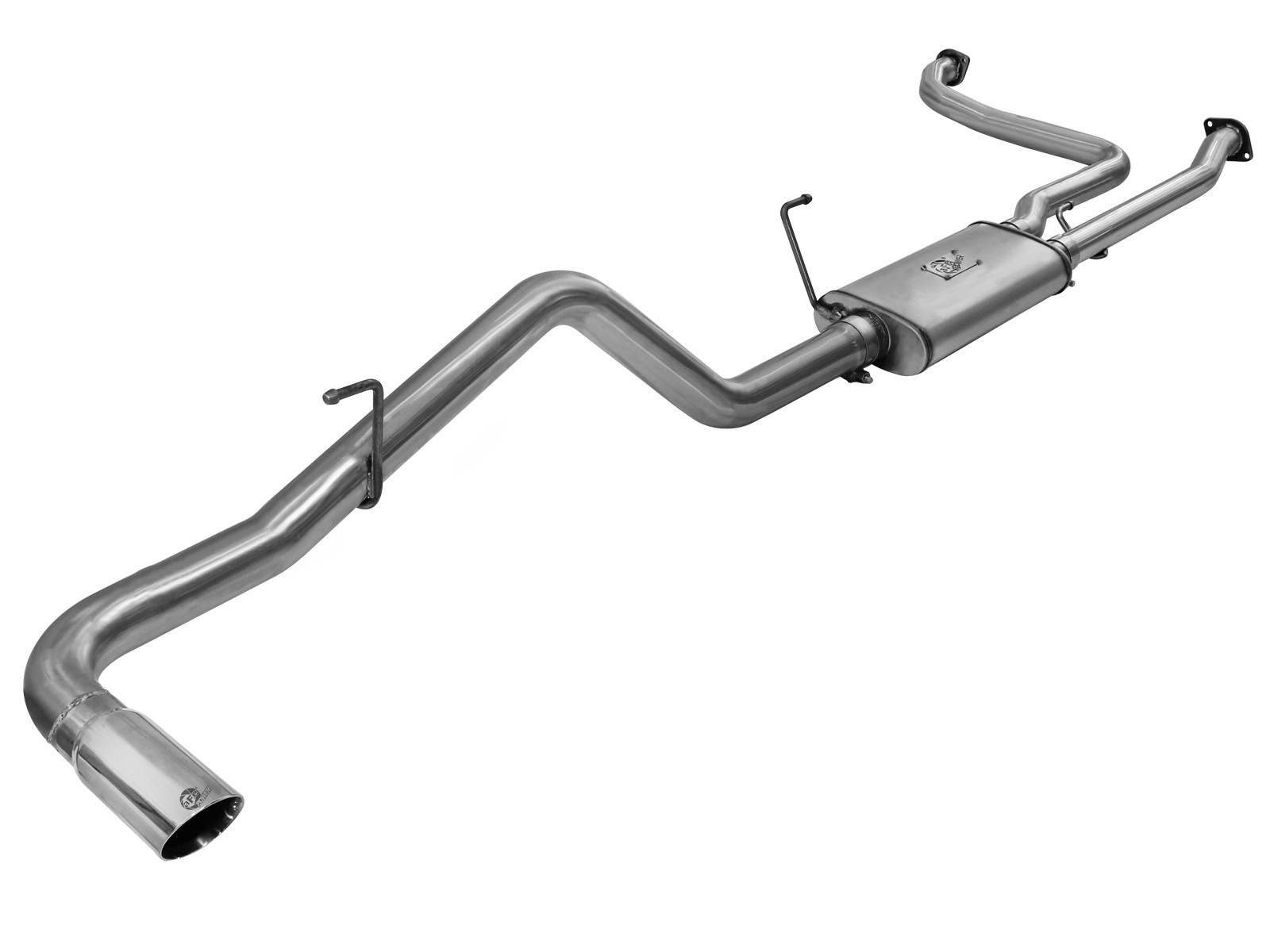"aFe POWER 49-46101-1 MACH Force-Xp 2-1/2"" to 3"" 409 Stainless Steel Cat-Back Exhaust System"