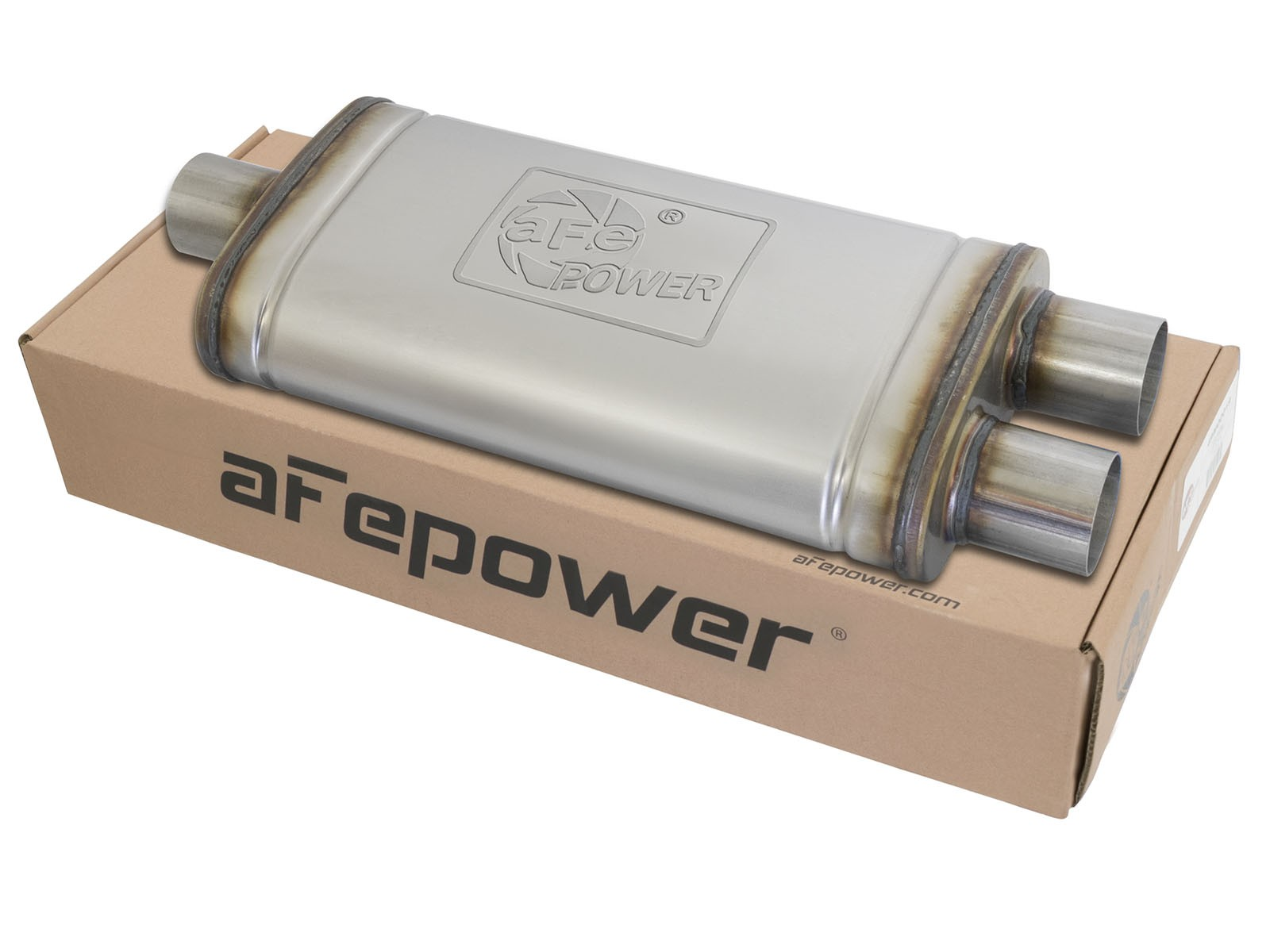 """aFe POWER 49M00009 MACH Force-Xp 2.5"""" to 2.5"""" 409 Stainless Steel Muffler"""