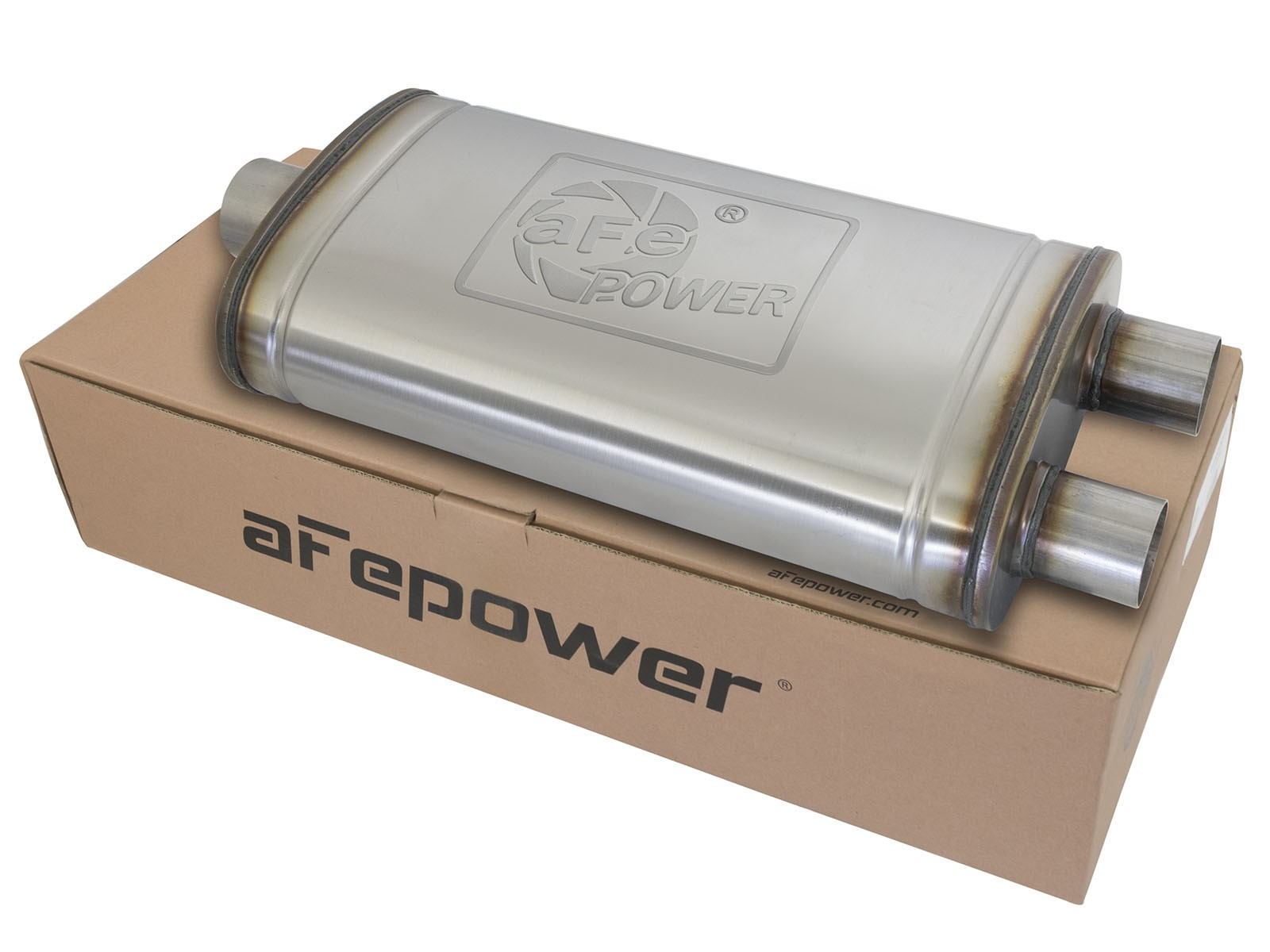 "aFe POWER 49M00014 MACH Force-Xp 3"" to 2.5"" 409 Stainless Steel Muffler"