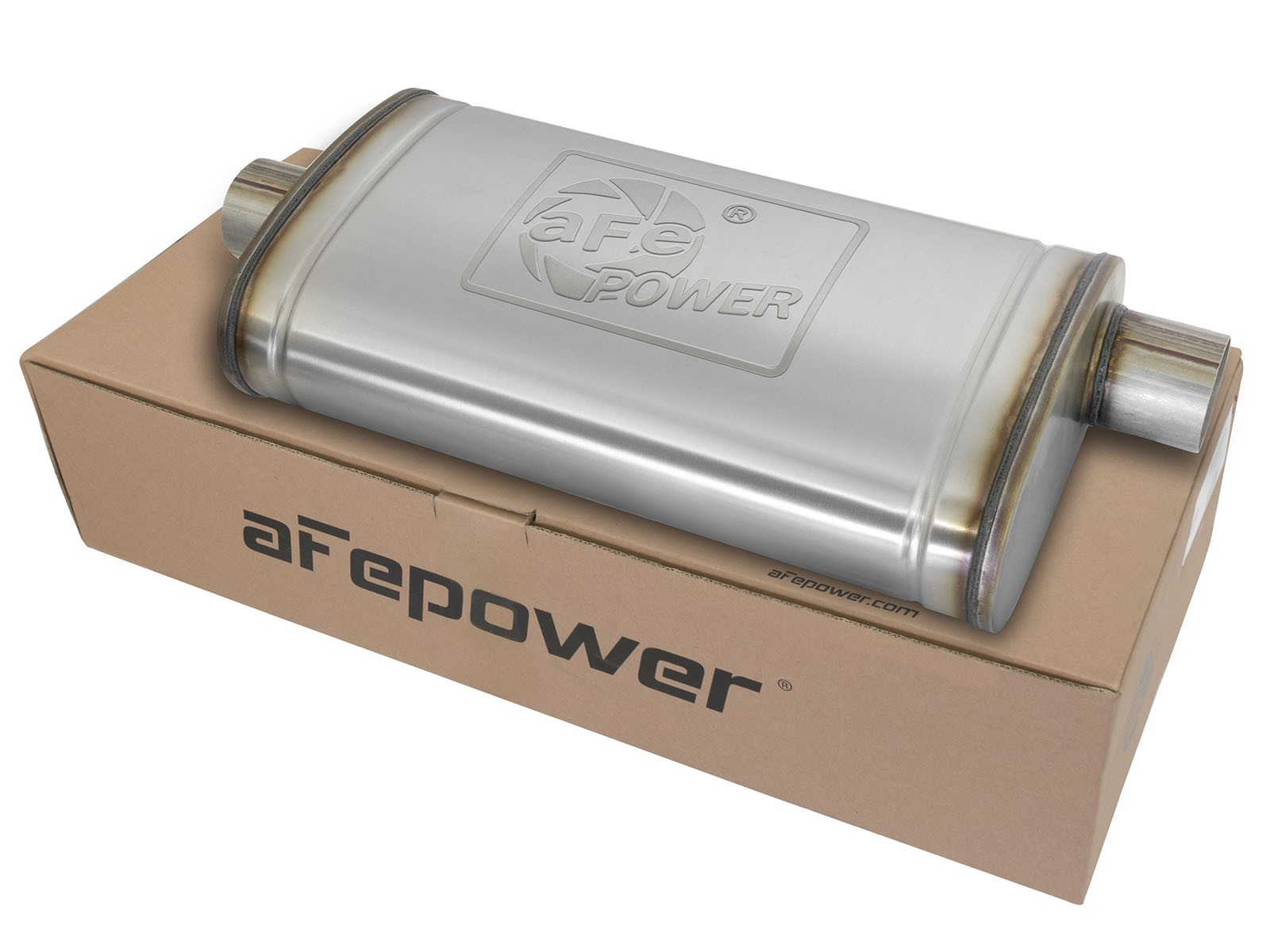 "aFe POWER 49M00016 MACH Force-Xp 3"" to 3"" 409 Stainless Steel Muffler"