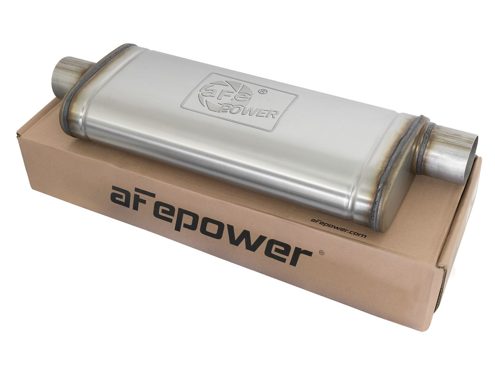 """aFe POWER 49M00017 MACH Force-Xp 3"""" to 3"""" 409 Stainless Steel Muffler"""