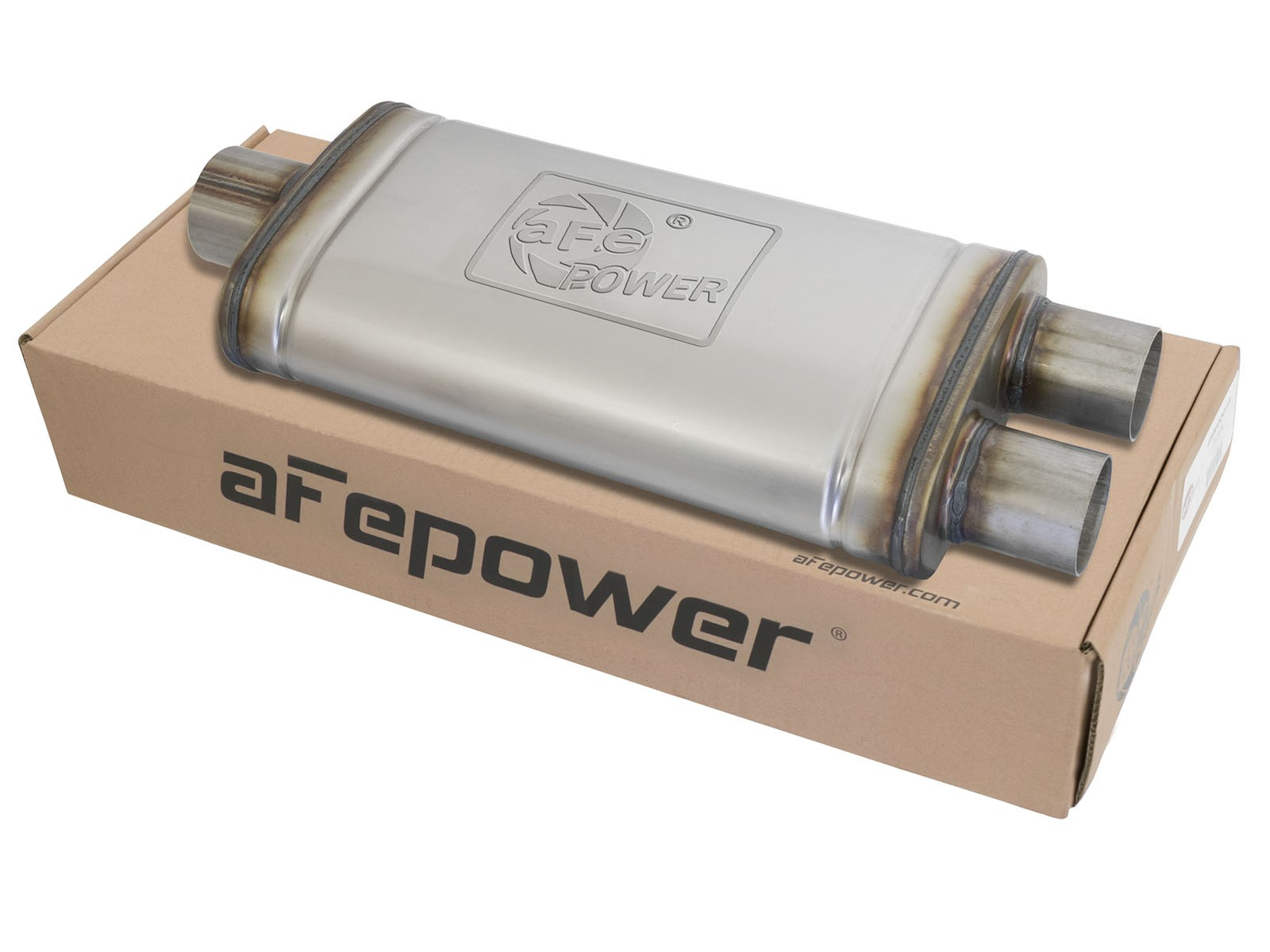 "aFe POWER 49M00018 MACH Force-Xp 3"" to 2.5"" 409 Stainless Steel Muffler"