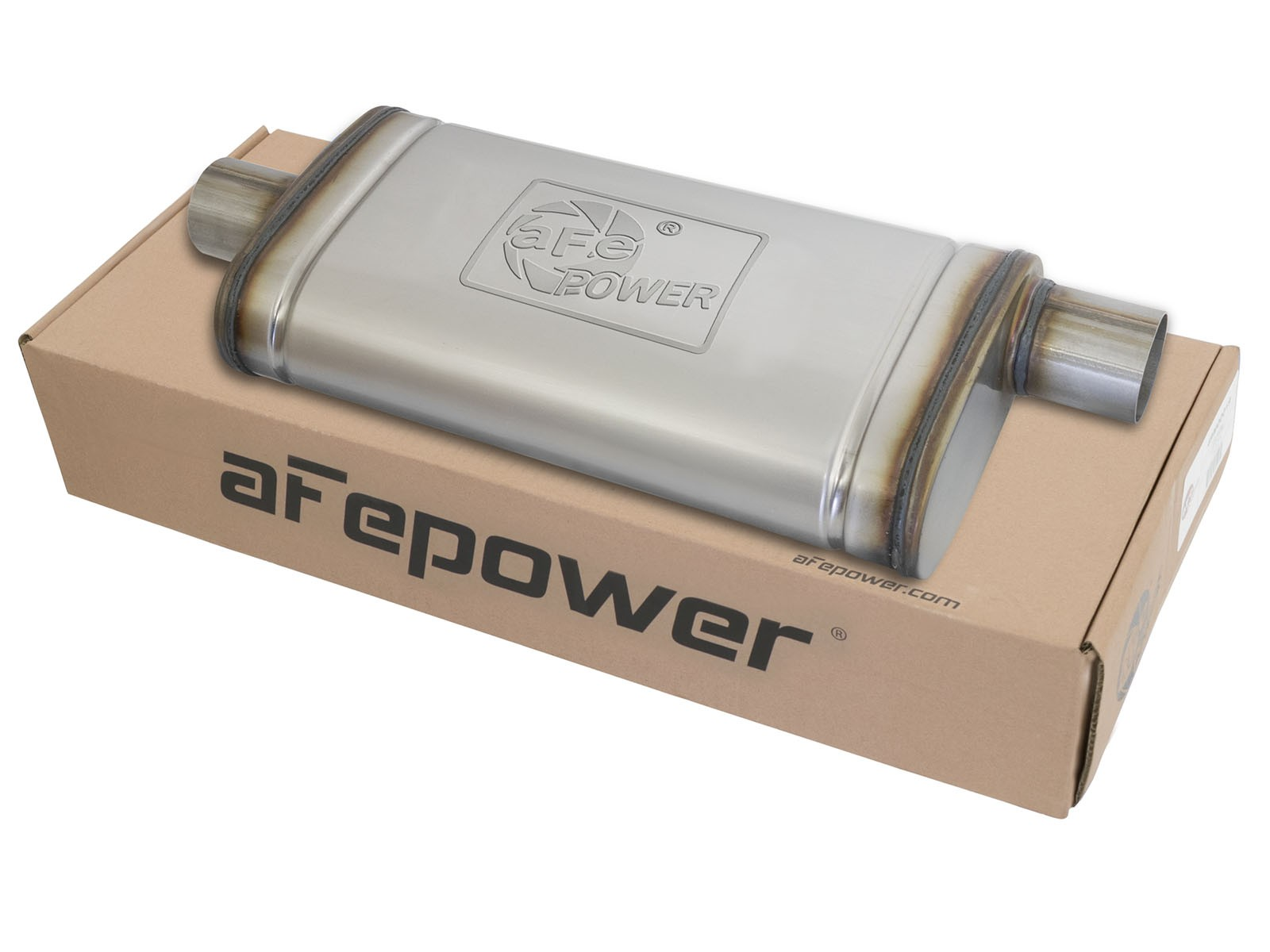 """aFe POWER 49M00019 MACH Force-Xp 2.5"""" to 2.5"""" 409 Stainless Steel Muffler"""