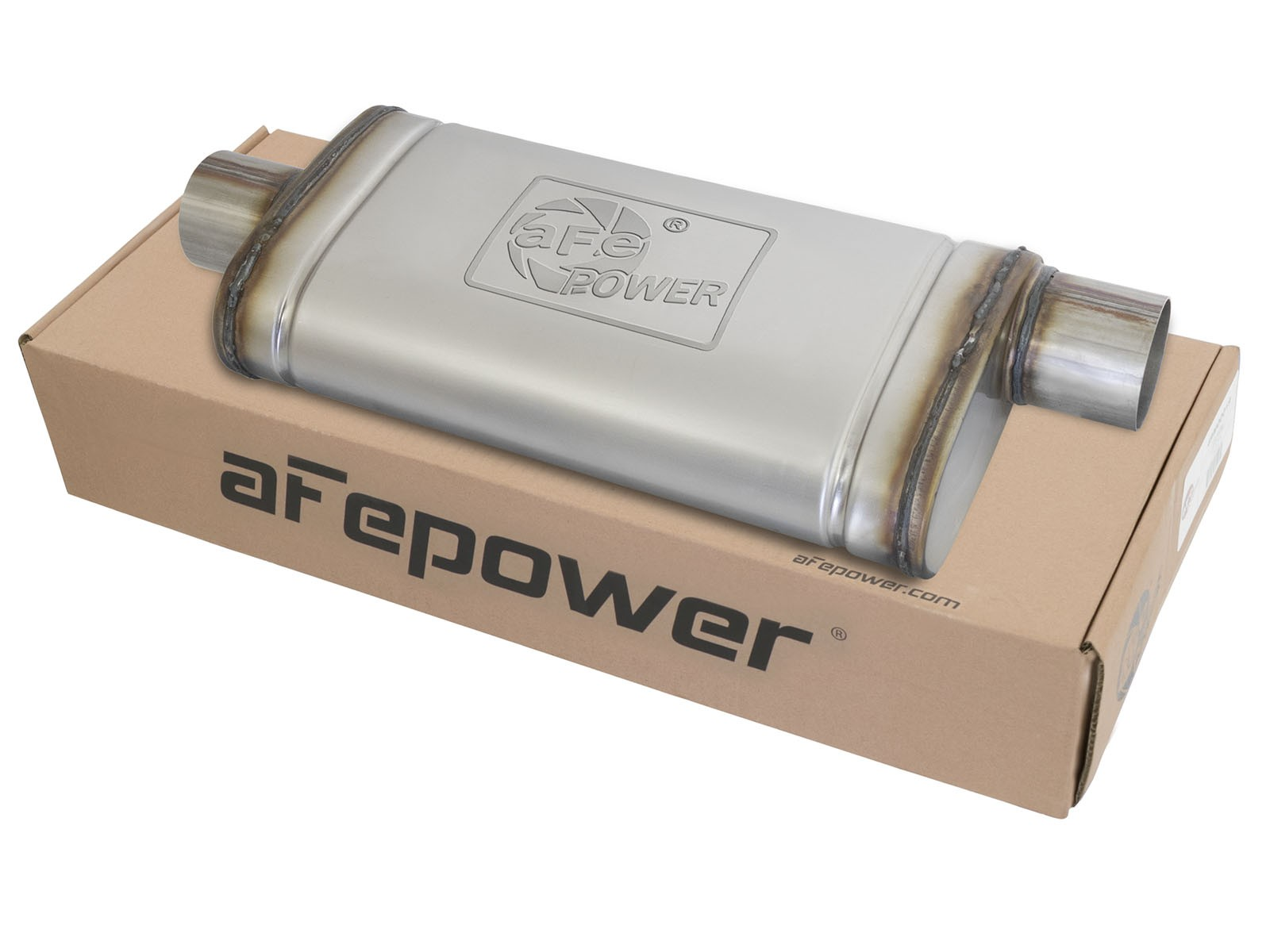 "aFe POWER 49M00020 MACH Force-Xp 3"" 409 Stainless Steel Muffler"