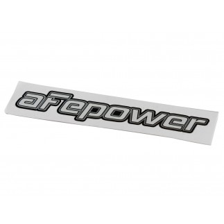 aFe Power Brushed-Silver Mylar Decal - 4 x 1-1/8 in