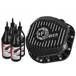 Rear Differential Cover, Machined Fins; Pro Series w/ Gear Oil