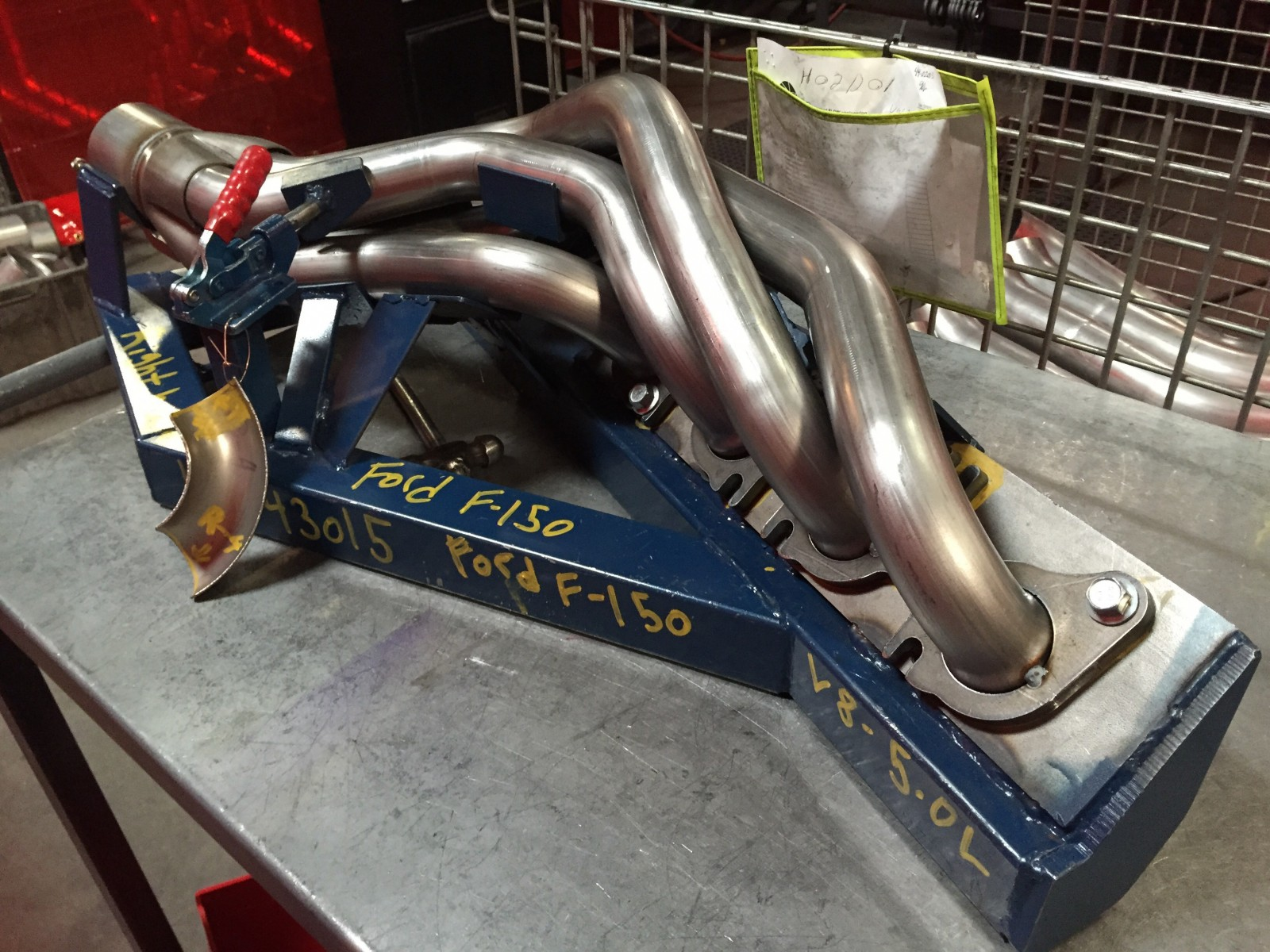 Ford F150 headers on JIG fixture