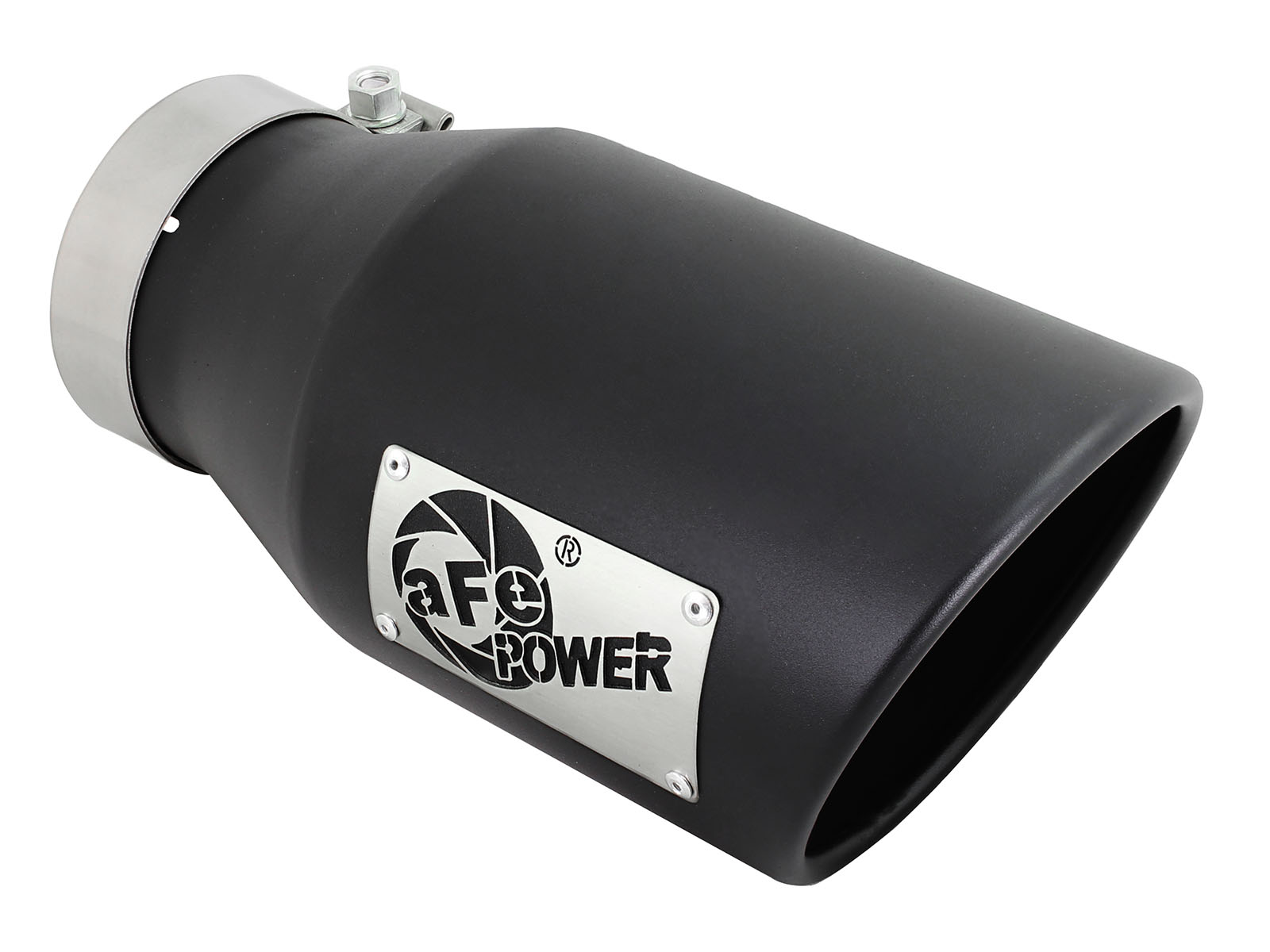 Diesel exhaust tip 4in x 6in out x 12in Length matte blk