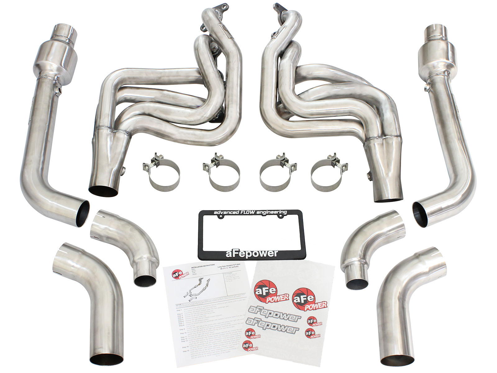 Ford Mustang 2015 GT 5.0 headers w-cats 7