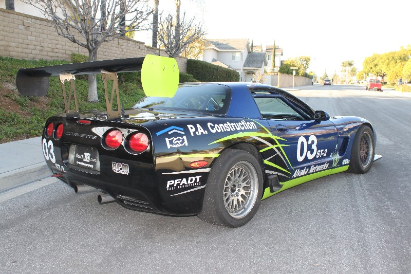 PA construction racing corvette 2