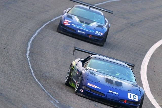 PA construction racing corvettes at ACS 1