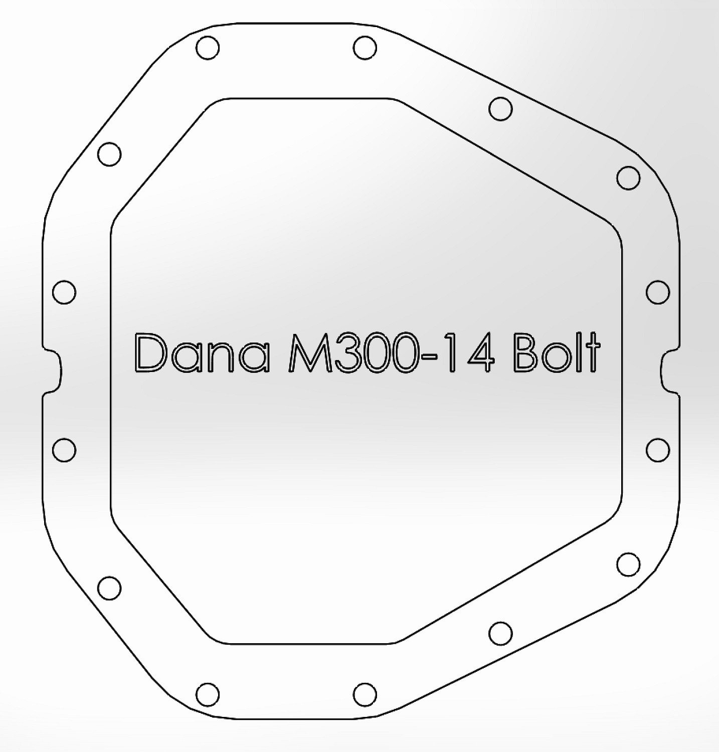 Rear Differential Cover, Machined Fins