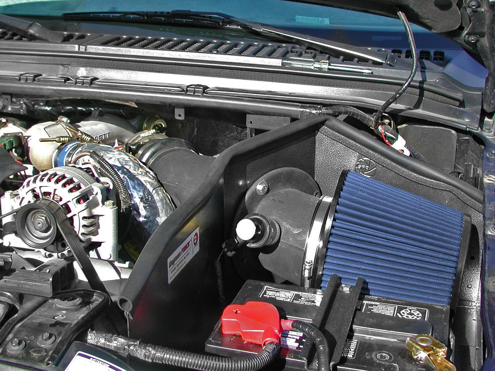 Magnum Force Stage 2 Pro 5r Cold Air Intake System Afe Power Fuel Filter On 99 F250 Powerstroke