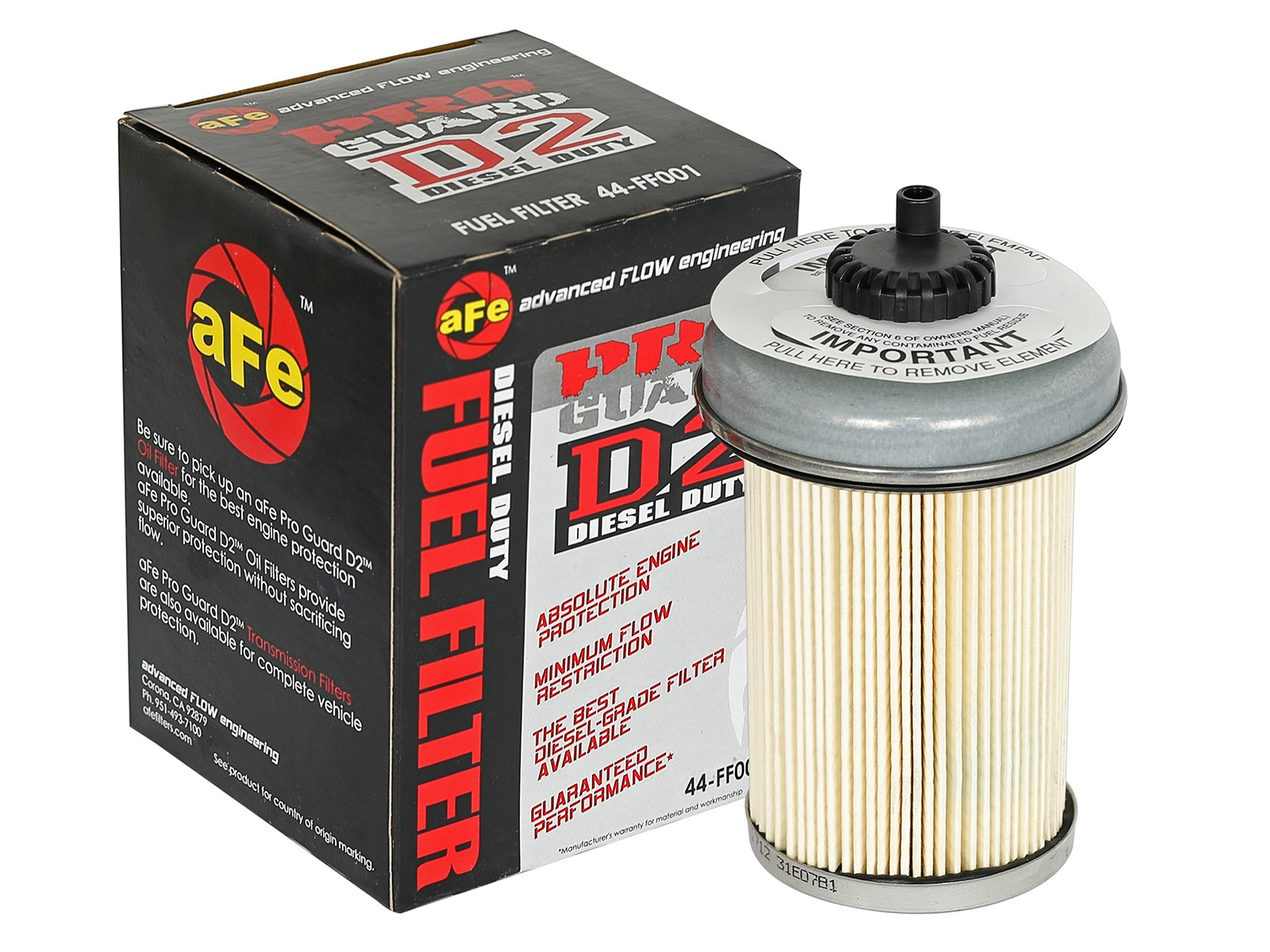 Pro Guard D2 Fuel Filter Afe Power 1996 Mustang