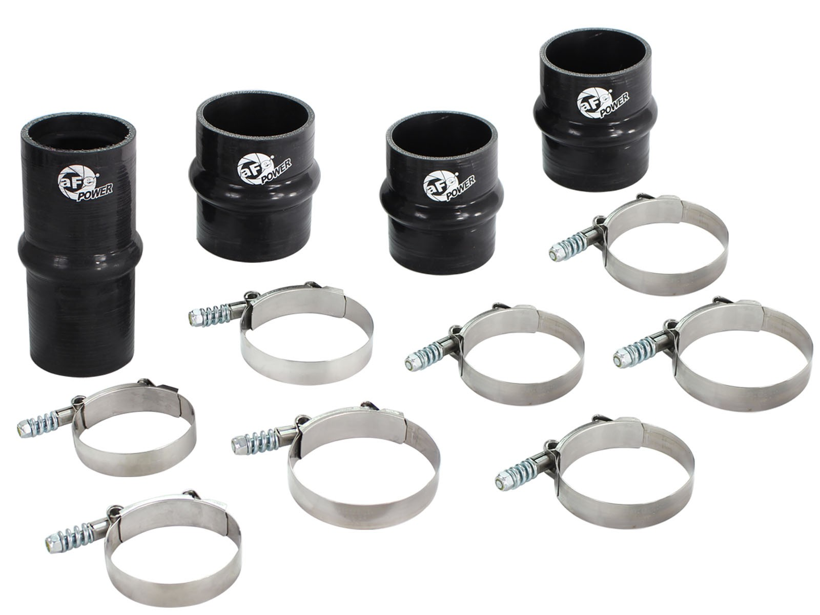 BladeRunner Intercooler Couplings & Clamps Kit; aFe & Factory Replacement