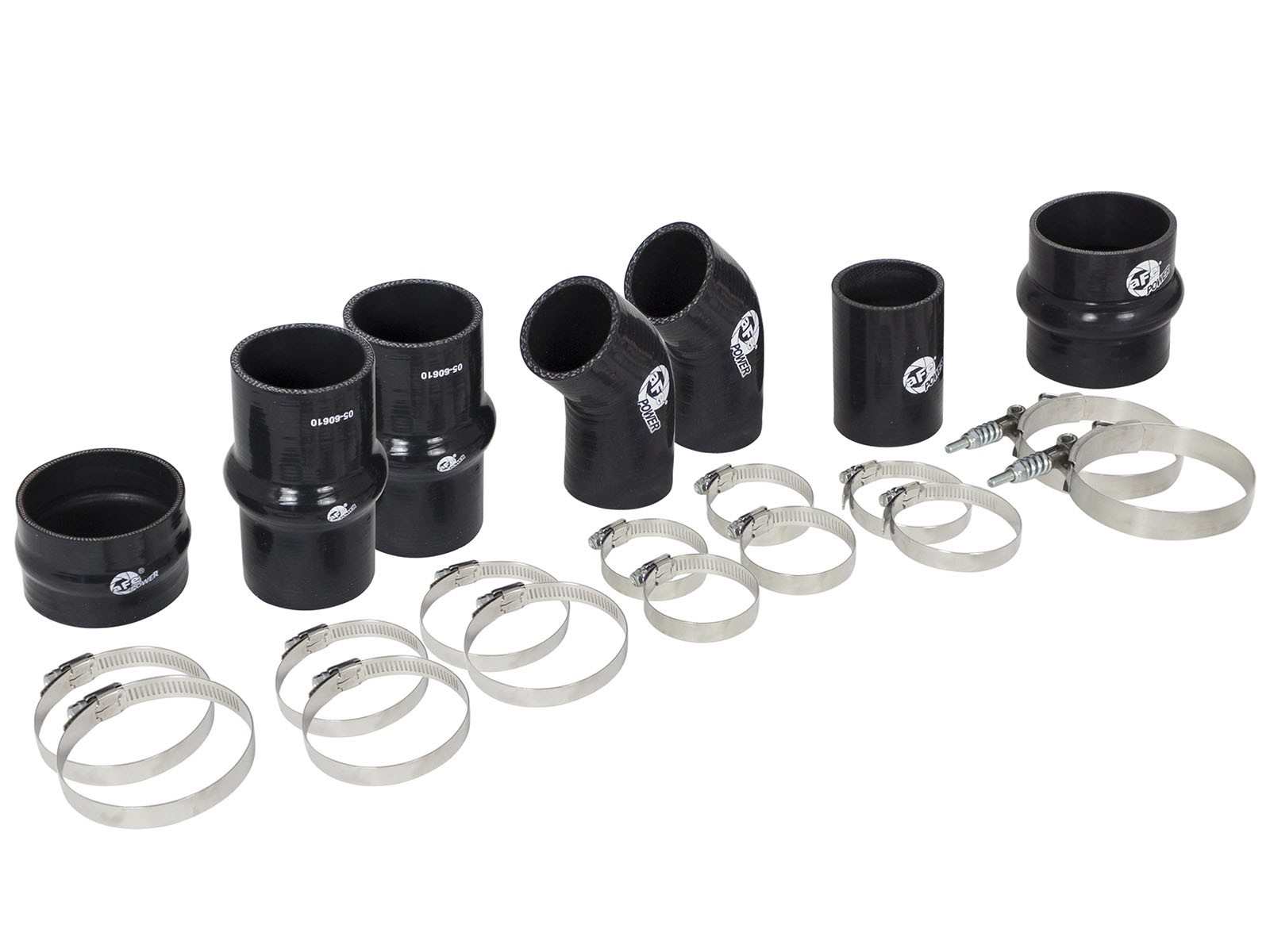 aFe POWER 46-20120A BladeRunner Intercooler Couplings & Clamps Kit; aFe Tubes Only
