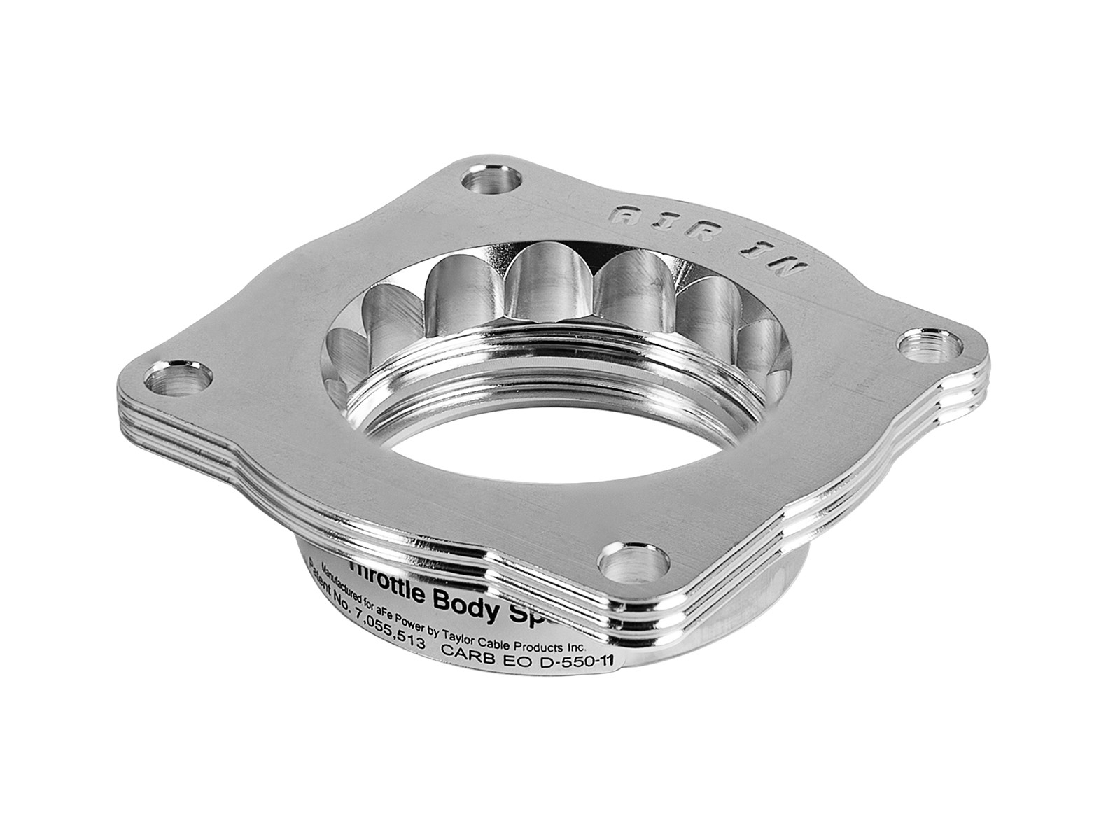 6.1L SILVER THROTTLE BODY SPACER for 2006 to 2009 JEEP GRAND CHEROKEE SRT-8