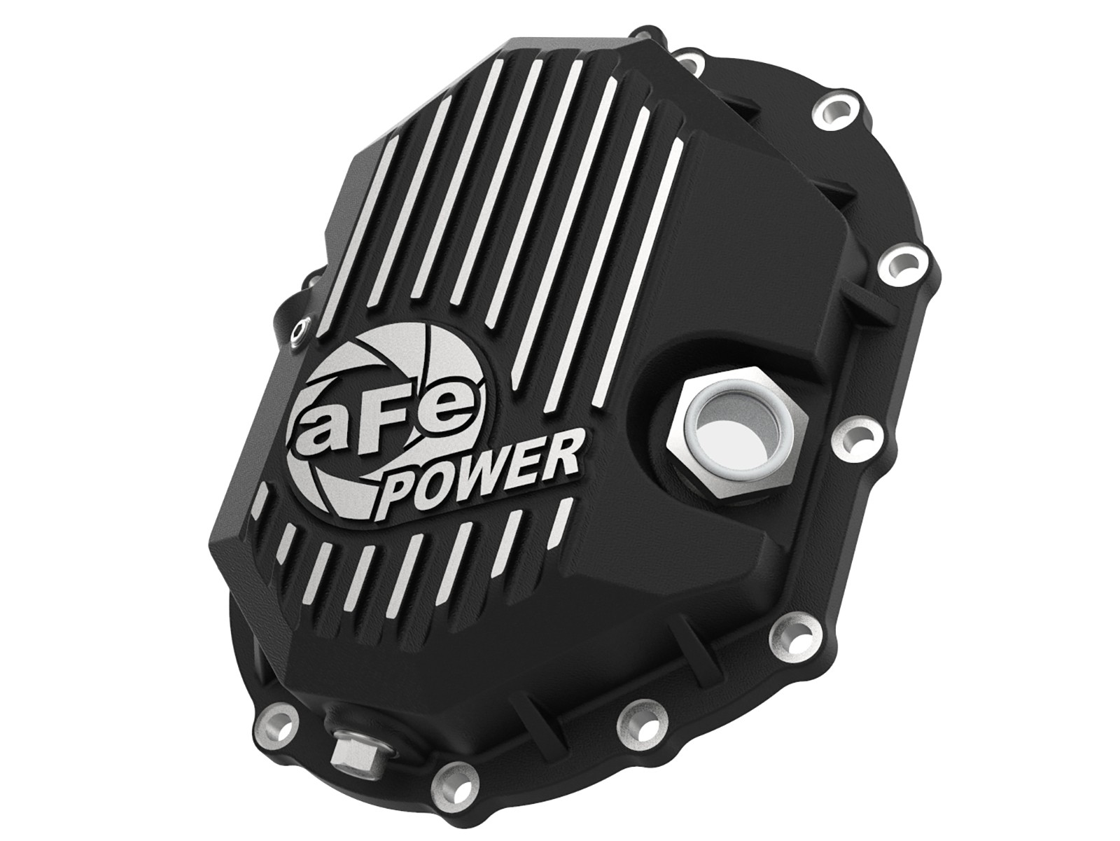 Pro Series Front Differential Cover Black w\/Machined Fins