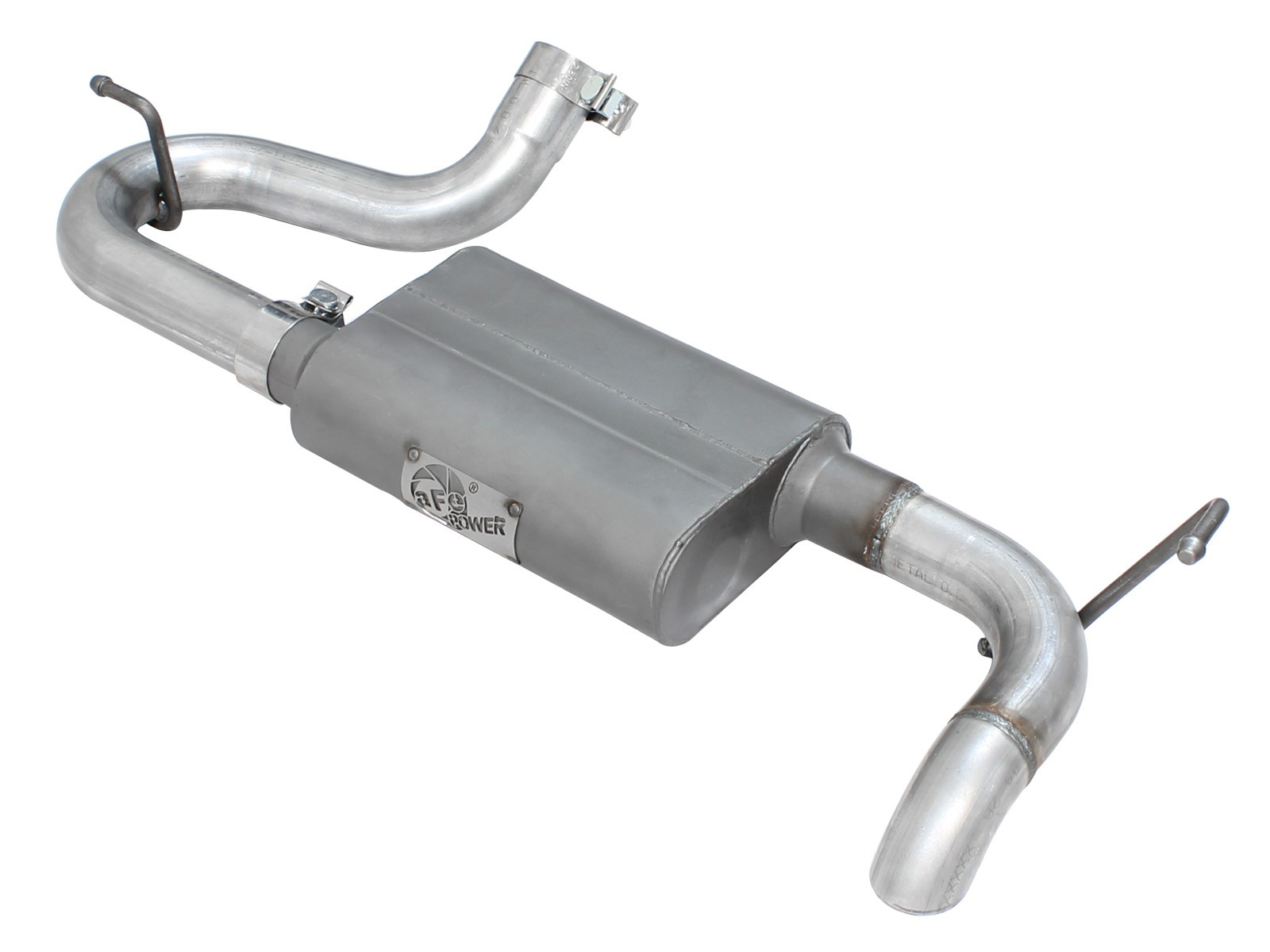scorpion 2 1 2 aluminized steel axle back exhaust system afe power