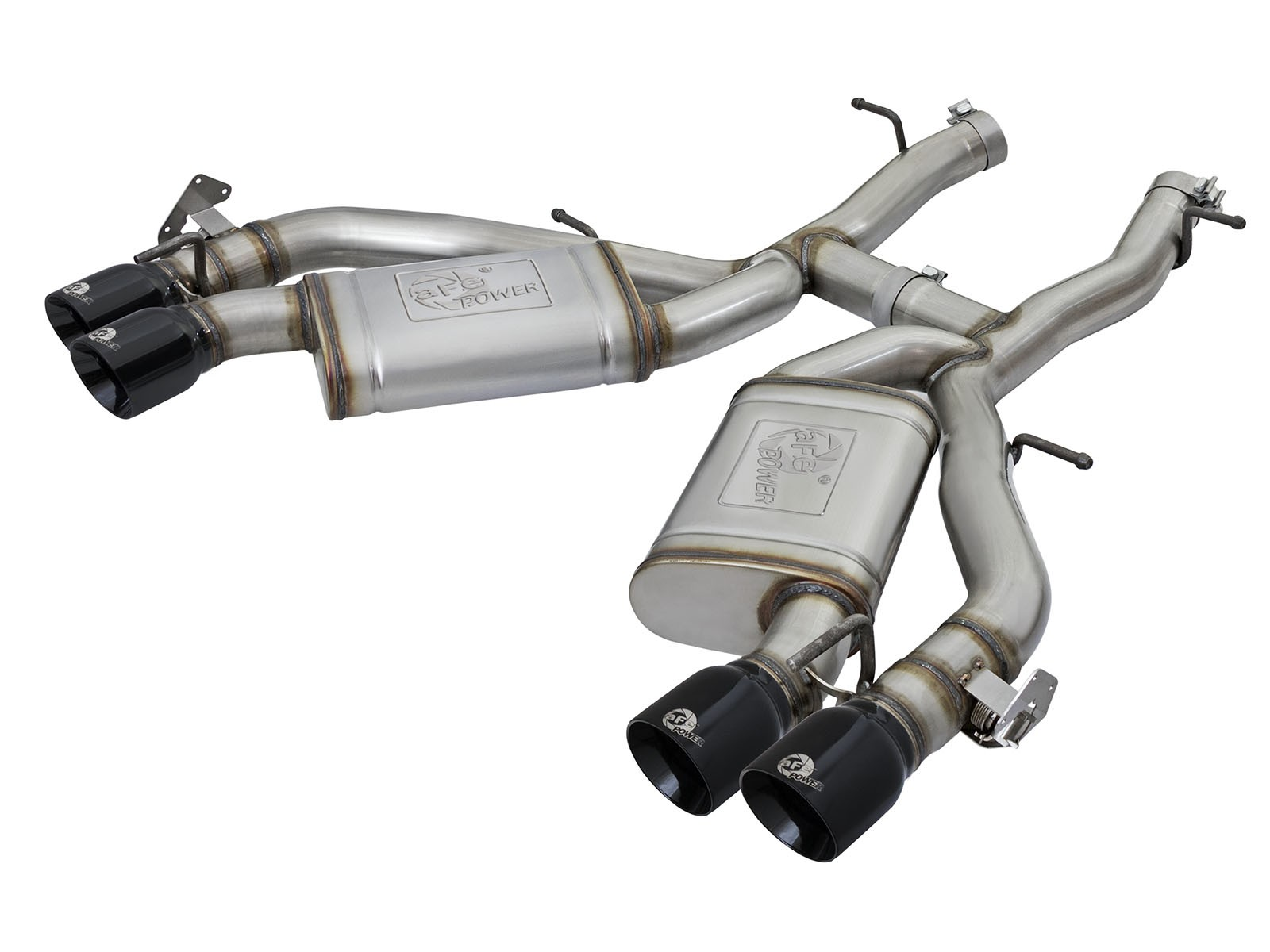 "aFe POWER 49-34068-B MACH Force-Xp 3"" 304 Stainless Steel Axle-Back Exhaust System"