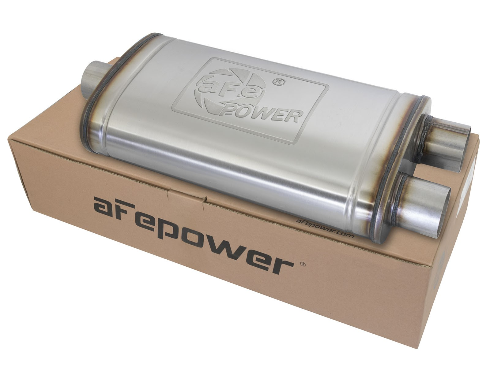 """aFe POWER 49M00015 MACH Force-Xp 3"""" to 3"""" 409 Stainless Steel Muffler"""