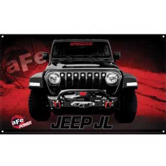 Fabric Garage Banner - Jeep Wrangler JL
