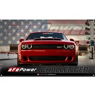 Fabric Garage Banner - Dodge Challenger SRT