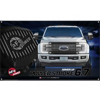 Fabric Garage Banner - Ford Power Stroke 6.7L