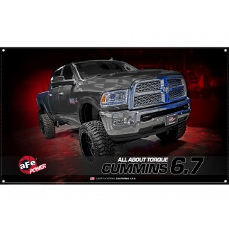 Fabric Garage Banner - Dodge/RAM Cummins 6.7L