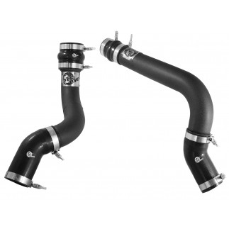BladeRunner 3 IN Aluminum Hot and Cold Charge Pipe Kit Black