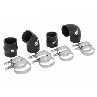 BladeRunner Intercooler Couplings & Clamps Kit; Factory Intercooler & aFe Tubes